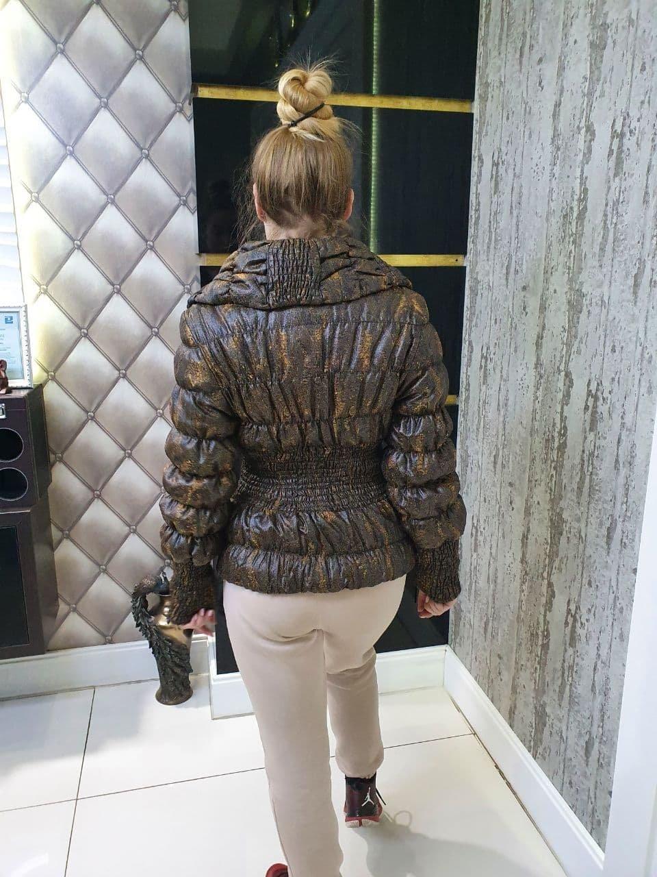 Куртка Весна Резинка 10720 АРТ. 47156 Цвет: Горчица - фото 2, интернет магазин tm-modus.ru