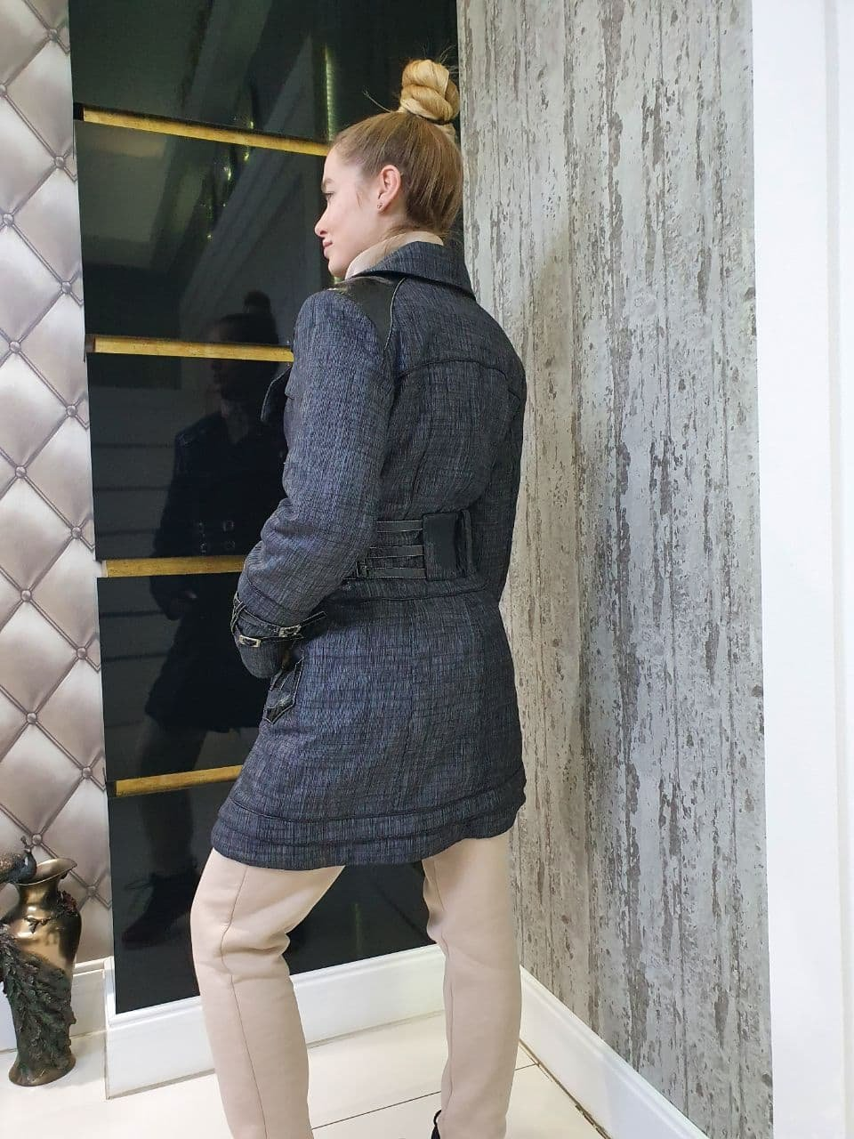 Куртка Зимняя Цунами 10714 АРТ. 47138 Цвет: Серый/черный - фото 2, интернет магазин tm-modus.ru