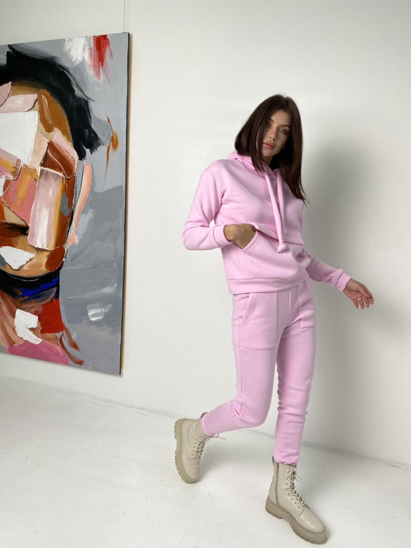 Бруклин  прогулочный костюм 3х нитка с начесом  9663 АРТ. 46923 Цвет: Розовый - фото 3, интернет магазин tm-modus.ru