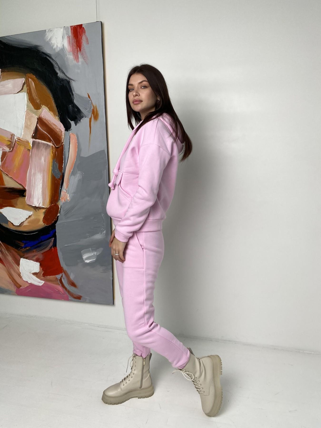 Бруклин  прогулочный костюм 3х нитка с начесом  9663 АРТ. 46923 Цвет: Розовый - фото 4, интернет магазин tm-modus.ru