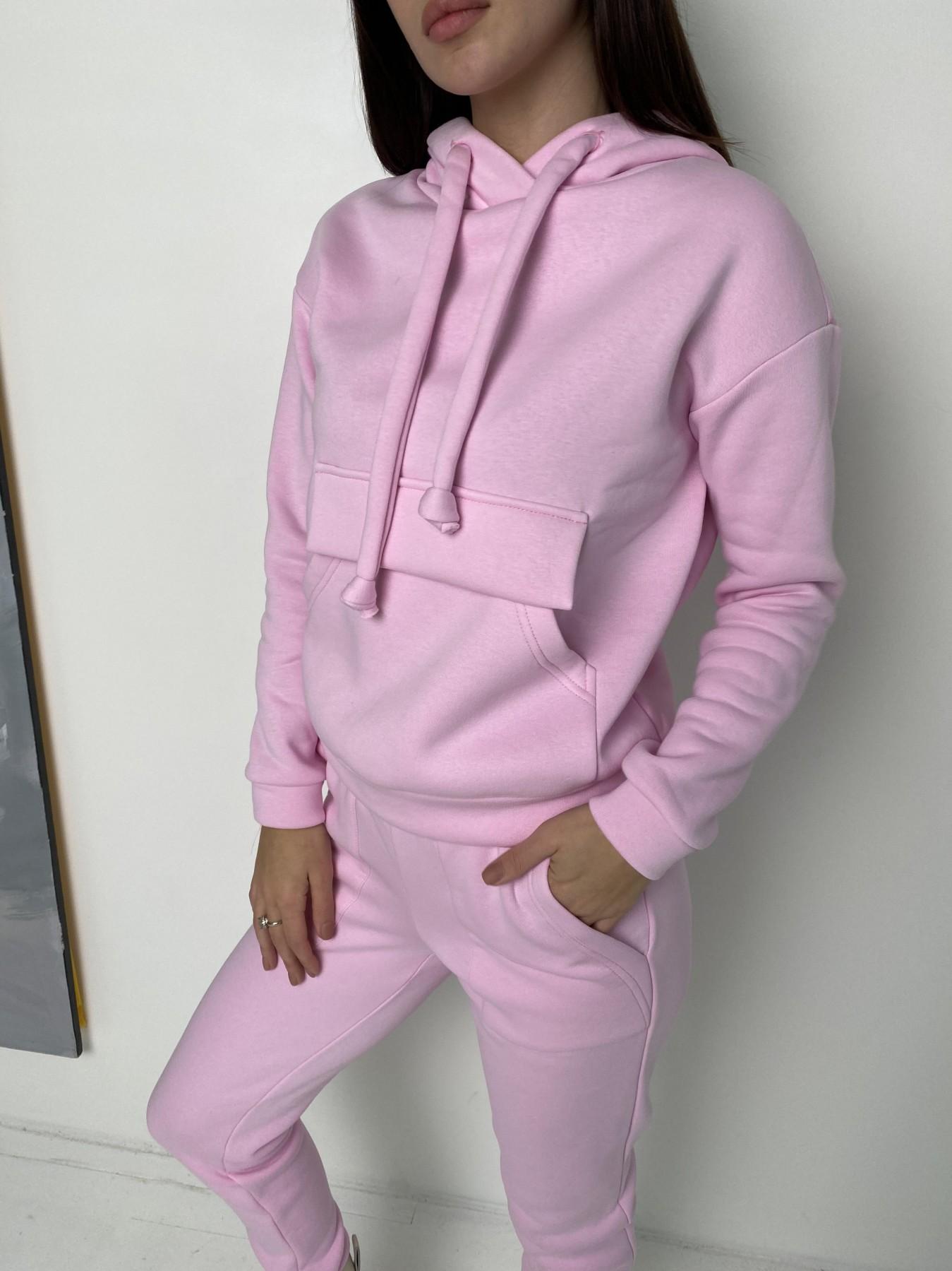 Бруклин  прогулочный костюм 3х нитка с начесом  9663 АРТ. 46923 Цвет: Розовый - фото 5, интернет магазин tm-modus.ru