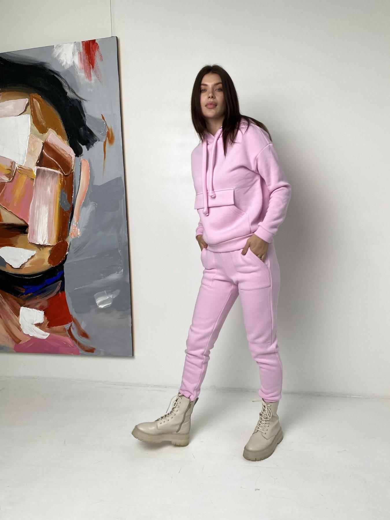 Бруклин  прогулочный костюм 3х нитка с начесом  9663 АРТ. 46923 Цвет: Розовый - фото 7, интернет магазин tm-modus.ru