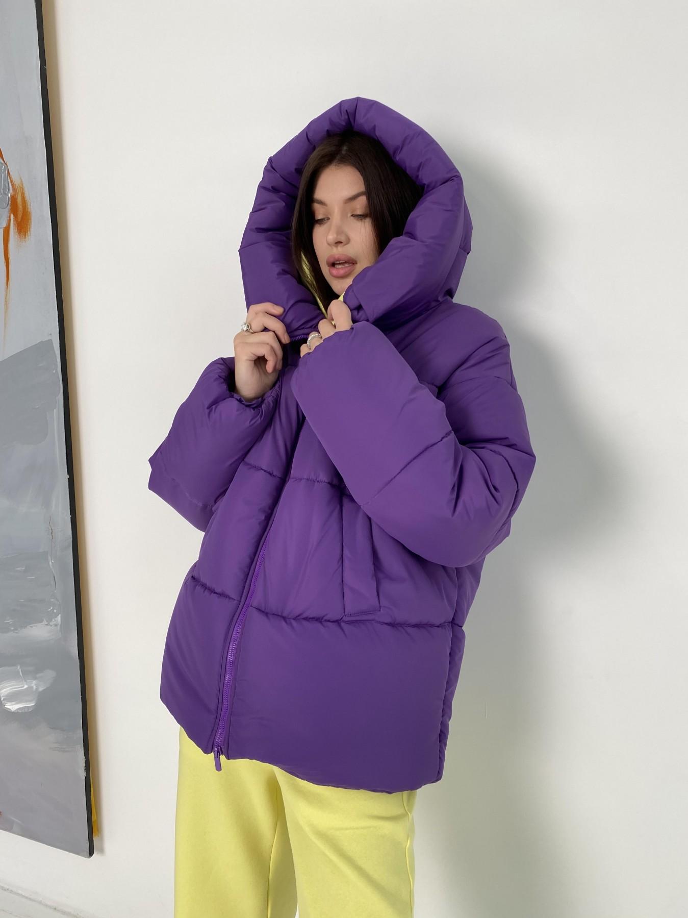 Овертайм  теплый пуховик из плащевой ткани 10243 АРТ. 47045 Цвет: Сиреневый 861 - фото 8, интернет магазин tm-modus.ru