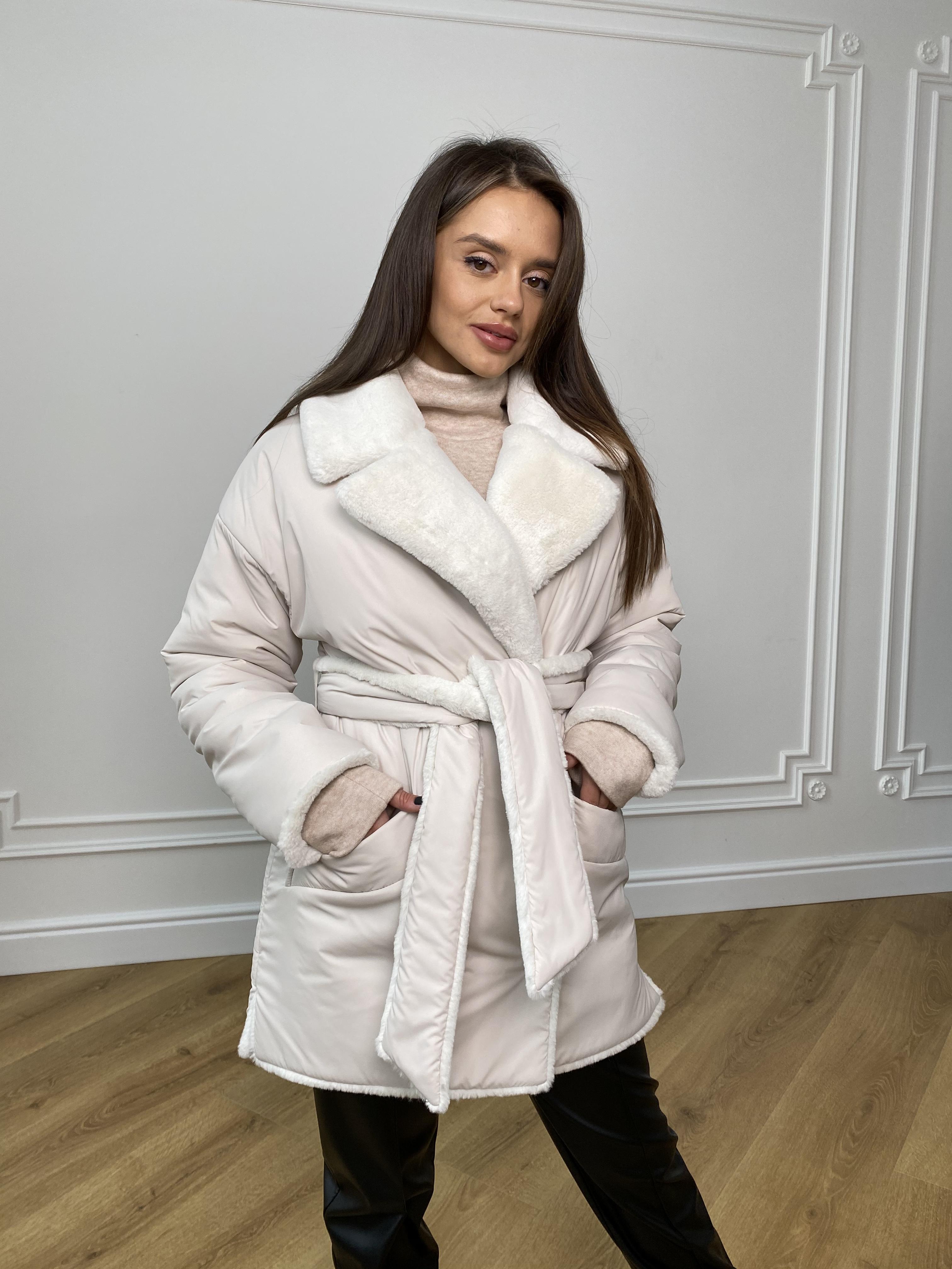 Вандер пальто мех искуственный кролик зима  10120
