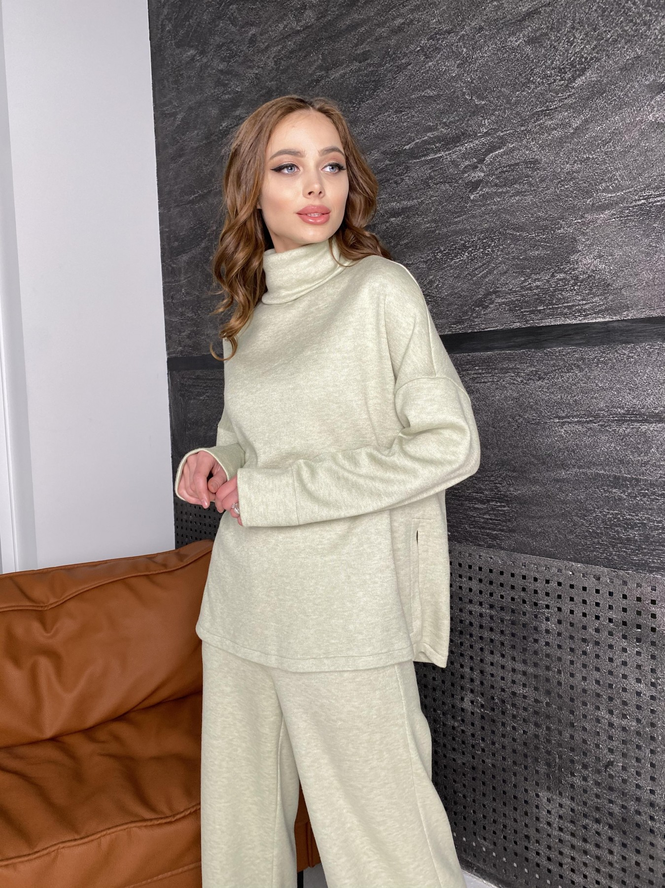 Лав Ю костюм из ангоры 10531 АРТ. 46873 Цвет: Фисташковый - фото 2, интернет магазин tm-modus.ru