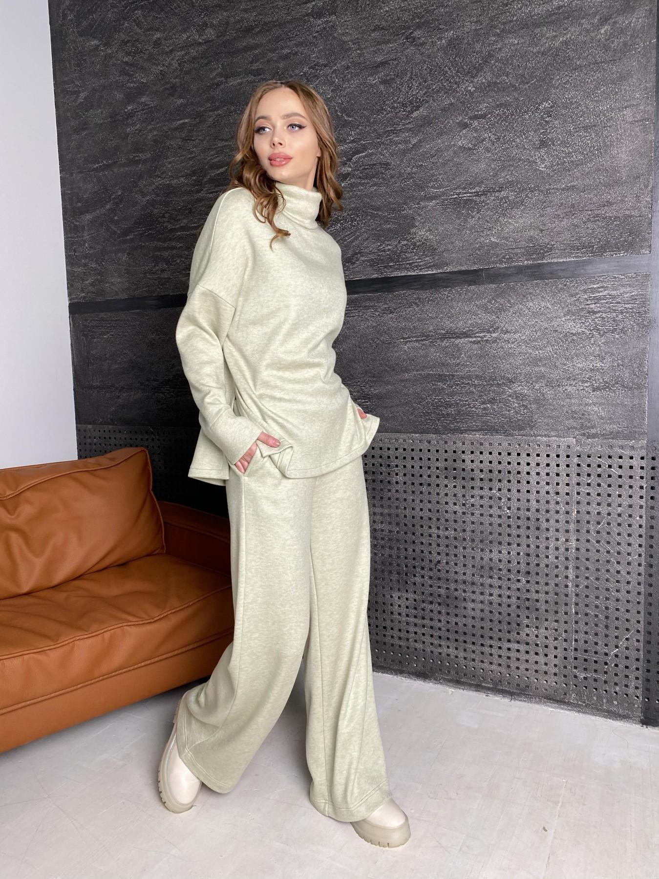 Лав Ю костюм из ангоры 10531 АРТ. 46873 Цвет: Фисташковый - фото 3, интернет магазин tm-modus.ru