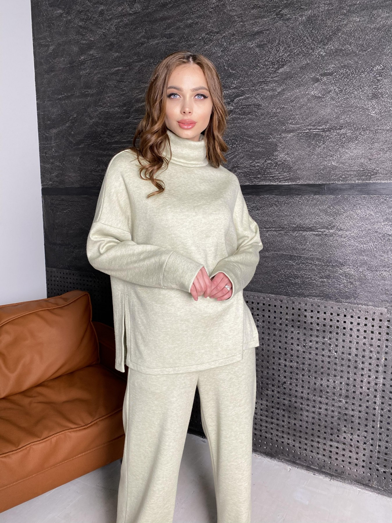 Лав Ю костюм из ангоры 10531 АРТ. 46873 Цвет: Фисташковый - фото 7, интернет магазин tm-modus.ru