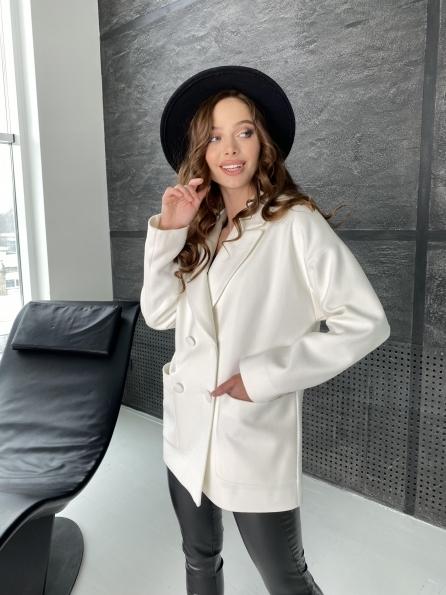 Мансера пальто из кашемира 10633 Цвет: Молоко