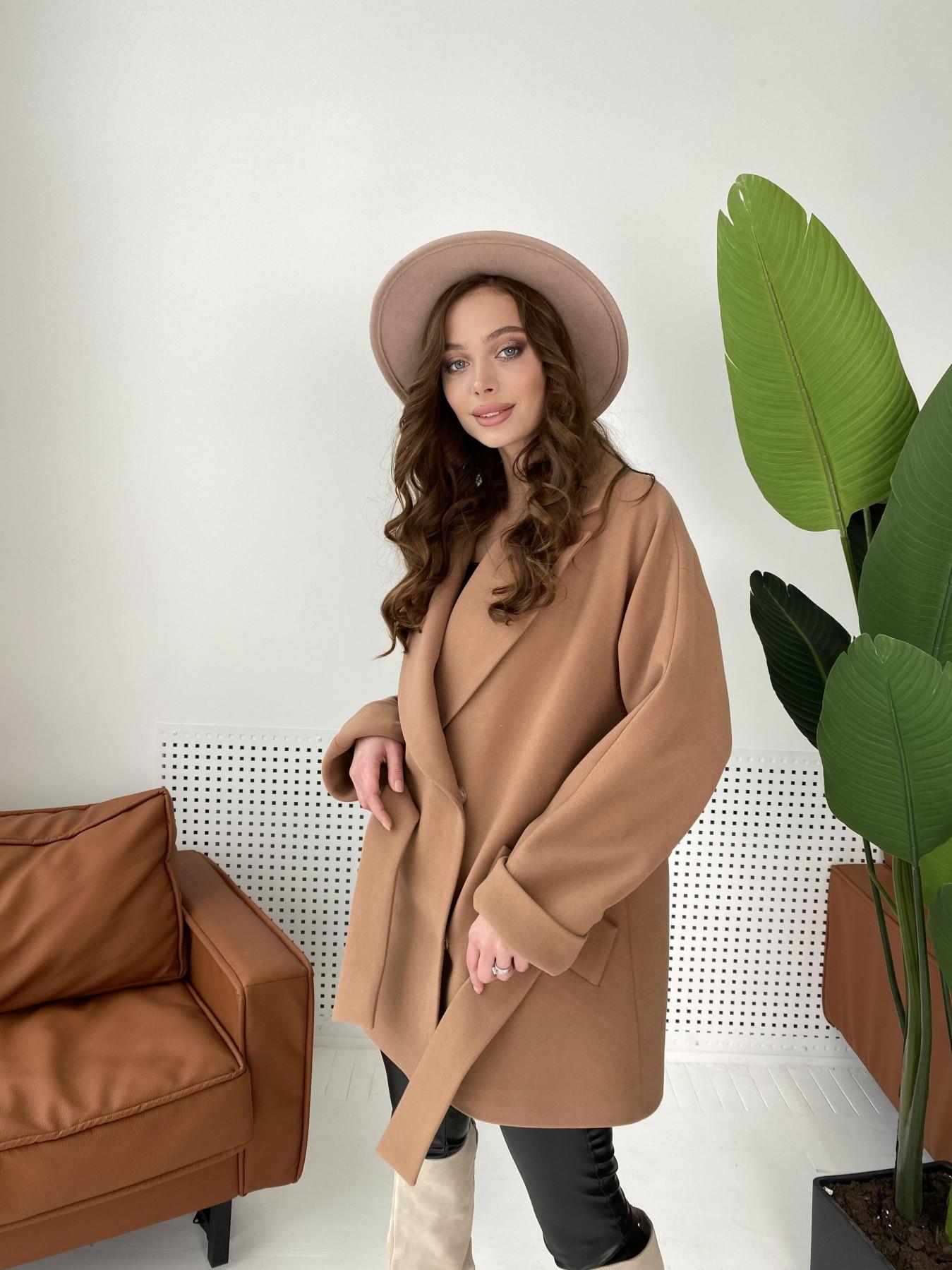 Дефиле пальто из кашемира 10585 АРТ. 46939 Цвет: Кемел - фото 1, интернет магазин tm-modus.ru