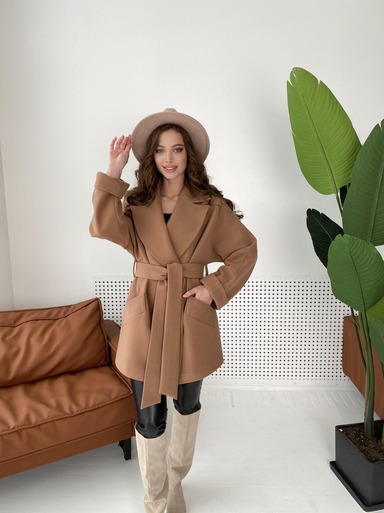 Дефиле пальто из кашемира 10585 АРТ. 46939 Цвет: Кемел - фото 2, интернет магазин tm-modus.ru