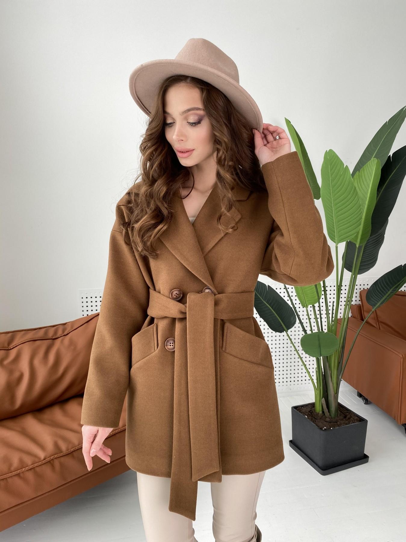 Бонд пальто кашемировое на трикотаже 10642 АРТ. 47008 Цвет: Шоколад - фото 7, интернет магазин tm-modus.ru