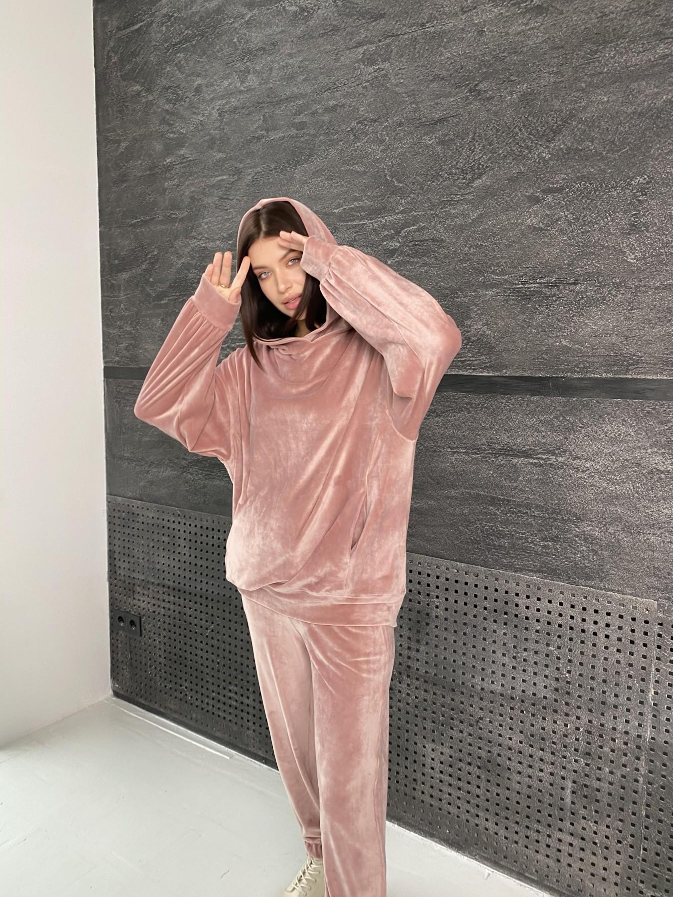 Марион Oversize  костюм из велюра 10690 АРТ. 47112 Цвет: Пудра - фото 1, интернет магазин tm-modus.ru