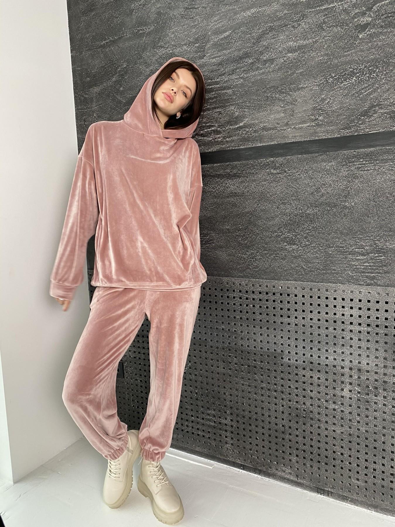 Марион Oversize  костюм из велюра 10690 АРТ. 47112 Цвет: Пудра - фото 4, интернет магазин tm-modus.ru