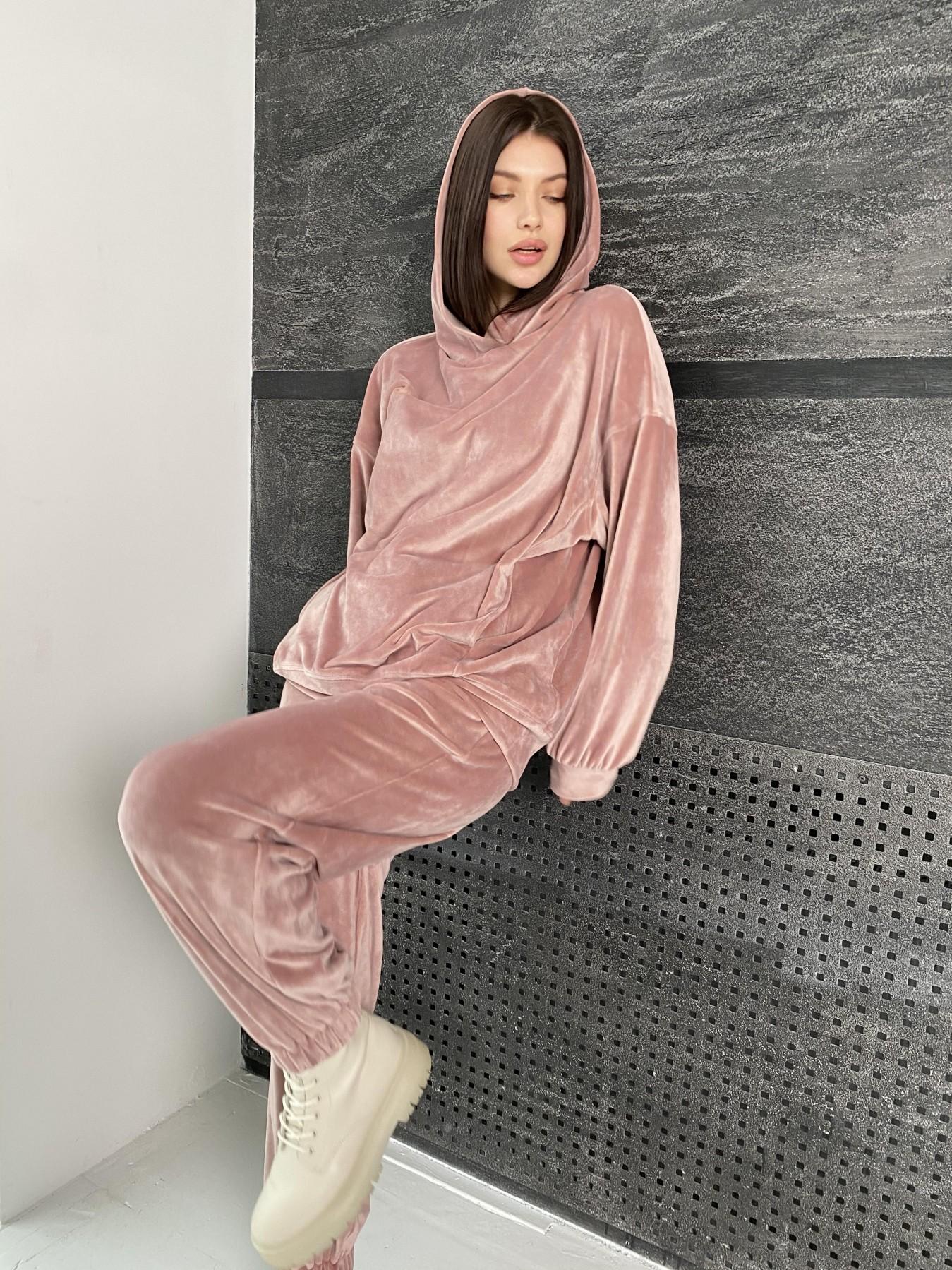 Марион Oversize  костюм из велюра 10690 АРТ. 47112 Цвет: Пудра - фото 5, интернет магазин tm-modus.ru