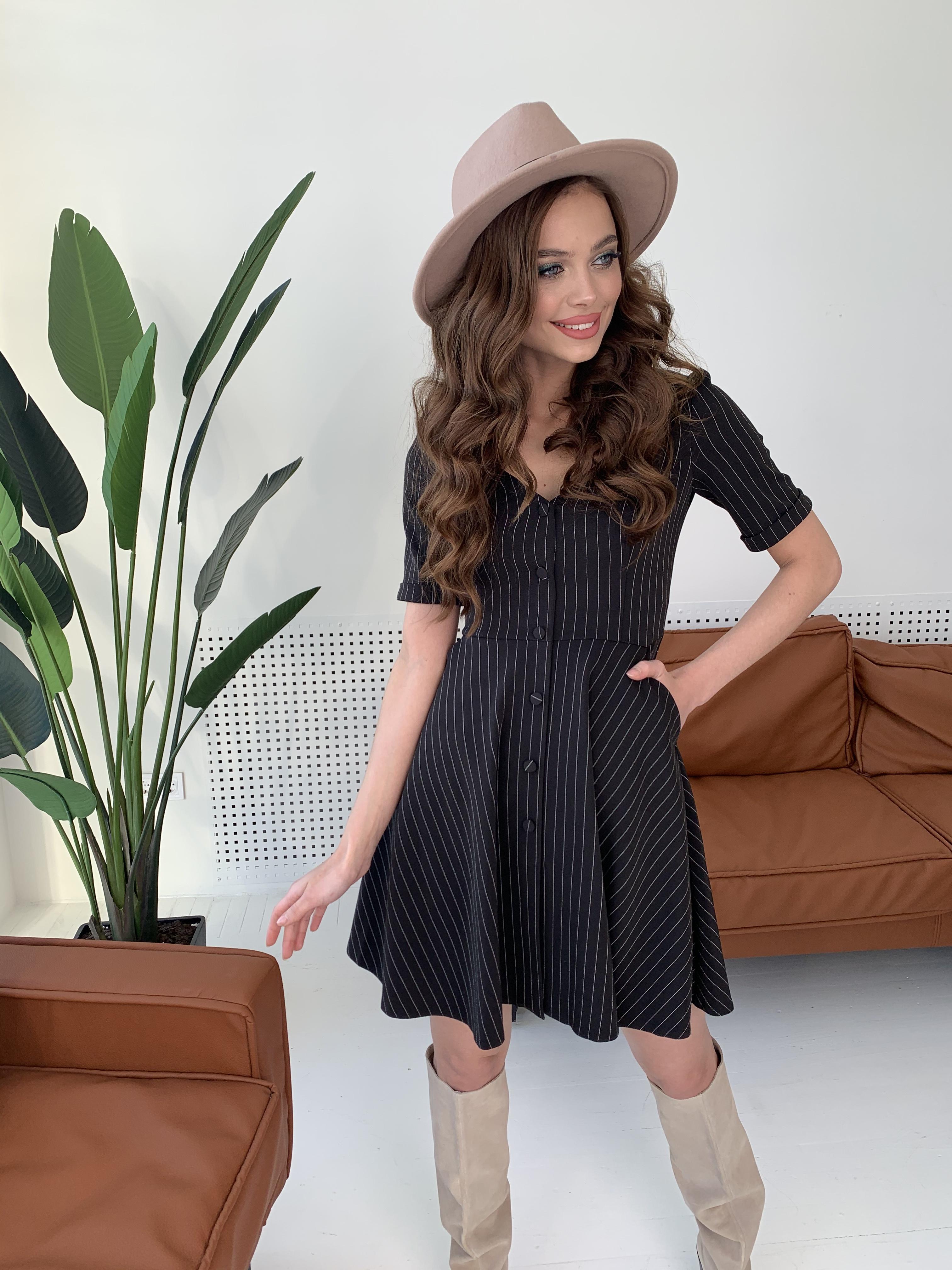 Платье Фернанда 7916 АРТ. 43848 Цвет: Полоска тон чер/бел - фото 3, интернет магазин tm-modus.ru