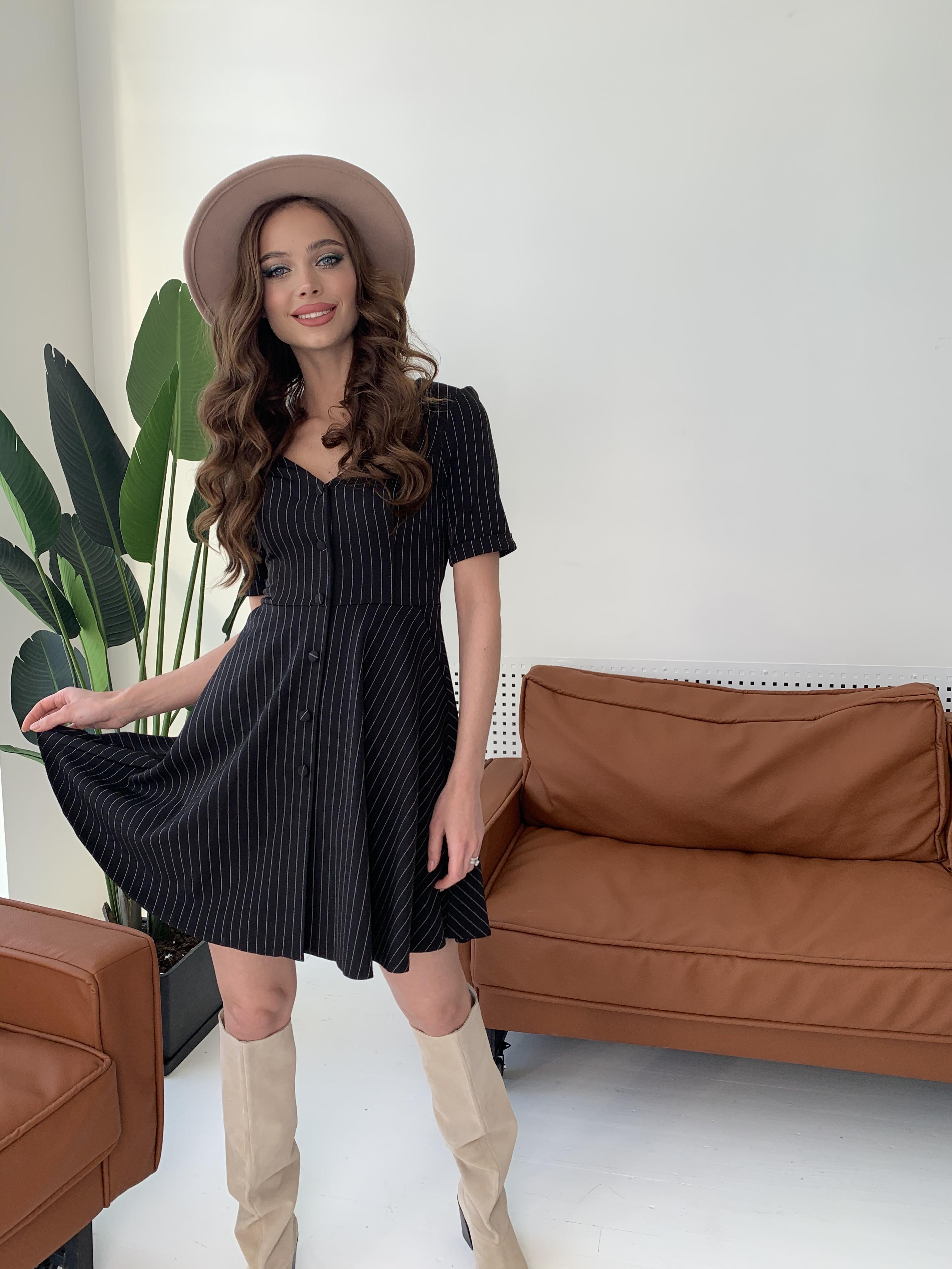 Платье Фернанда 7916 АРТ. 43848 Цвет: Полоска тон чер/бел - фото 7, интернет магазин tm-modus.ru