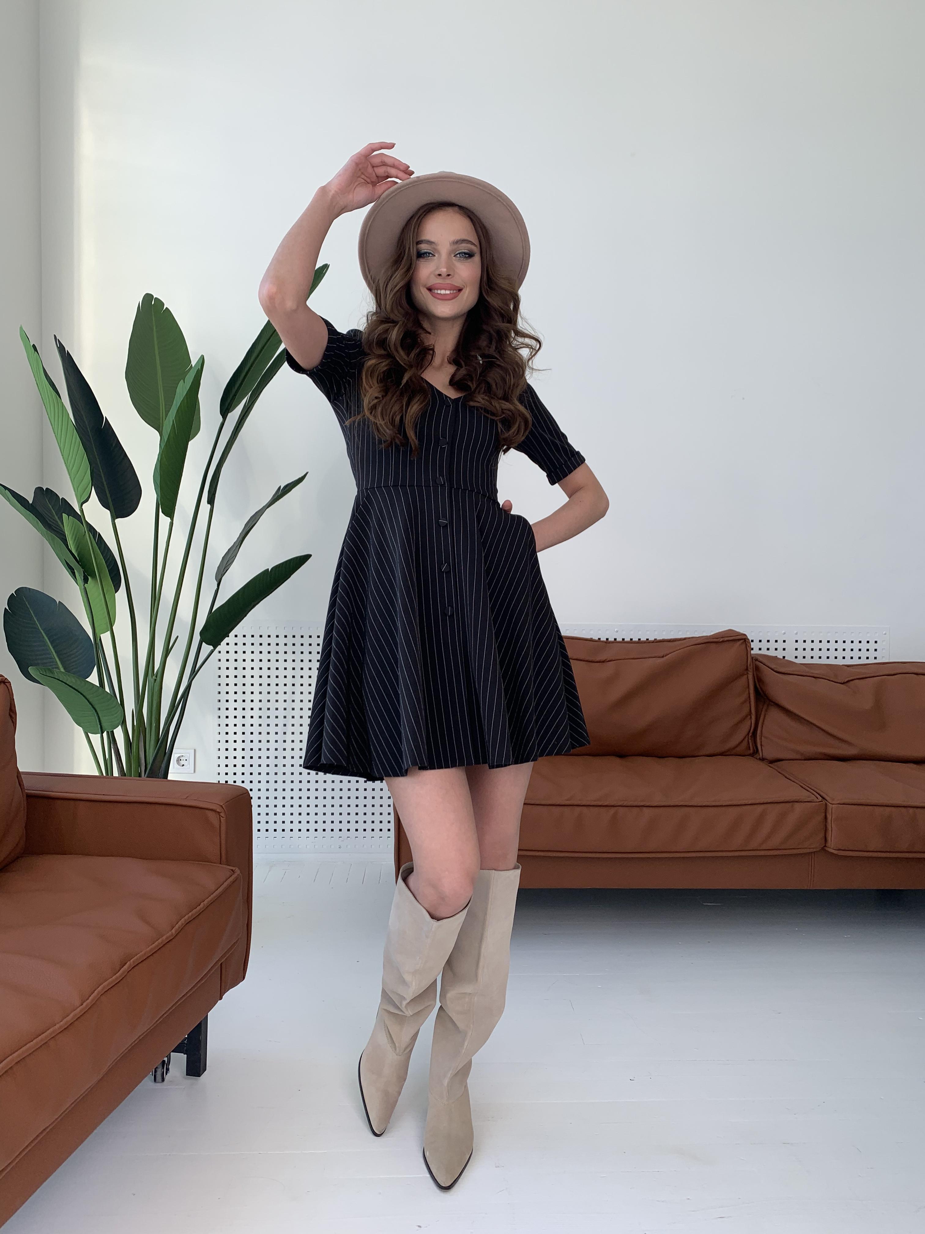 Платье Фернанда 7916 АРТ. 43848 Цвет: Полоска тон чер/бел - фото 8, интернет магазин tm-modus.ru
