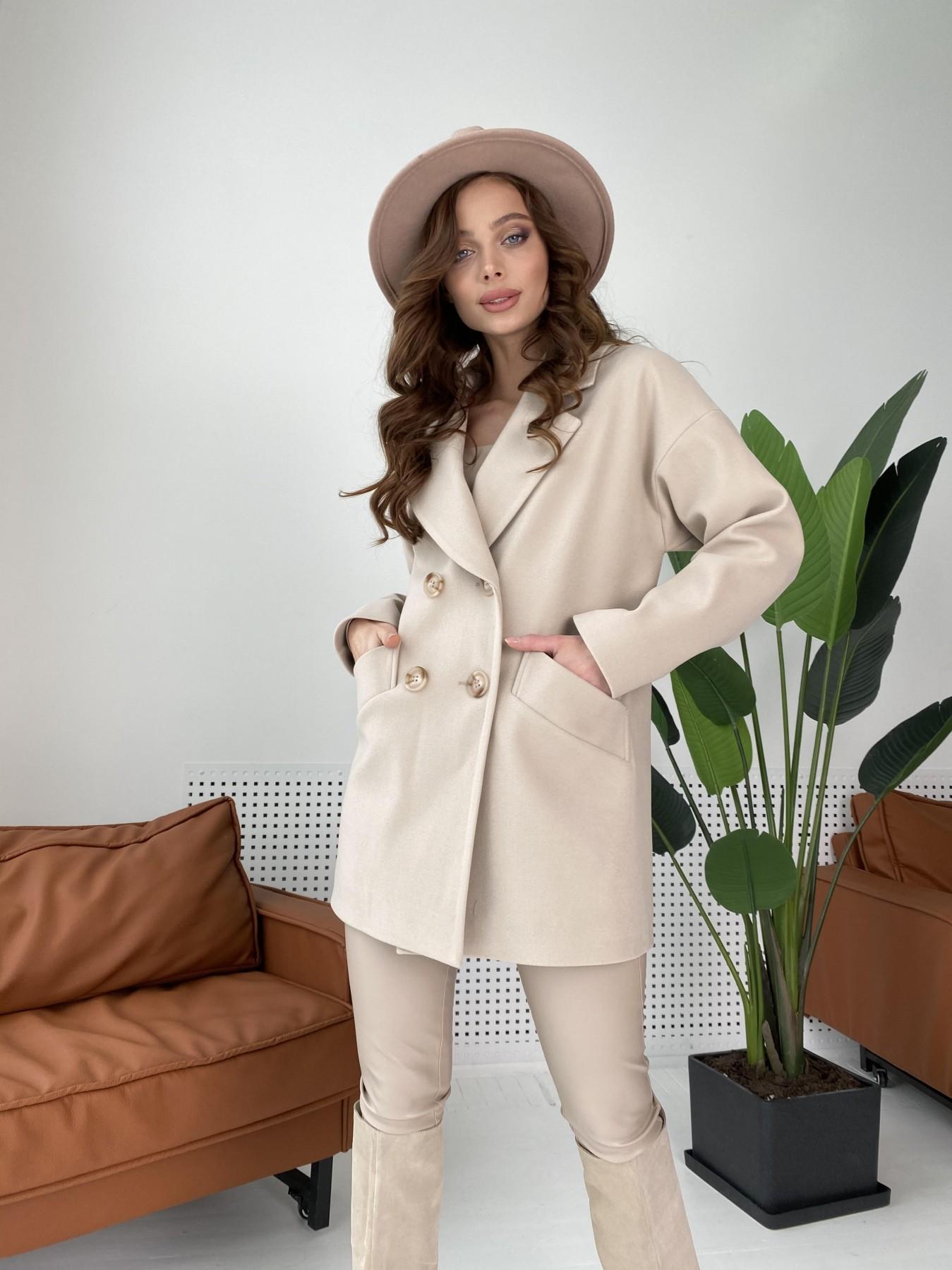 Бонд пальто из кашемира  10571 АРТ. 46992 Цвет: Бежевый Светлый - фото 1, интернет магазин tm-modus.ru