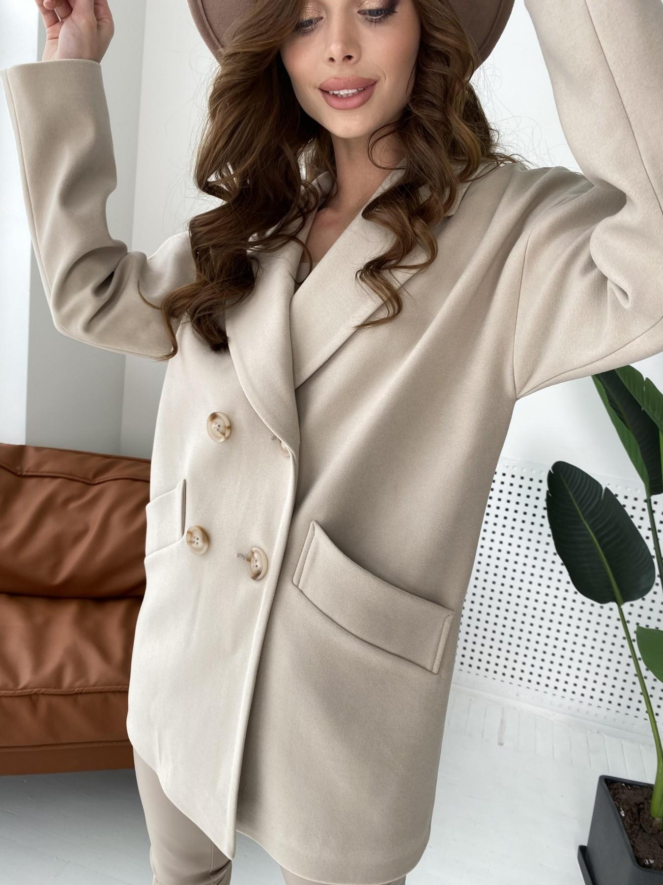 Бонд пальто из кашемира  10571 АРТ. 46992 Цвет: Бежевый Светлый - фото 2, интернет магазин tm-modus.ru
