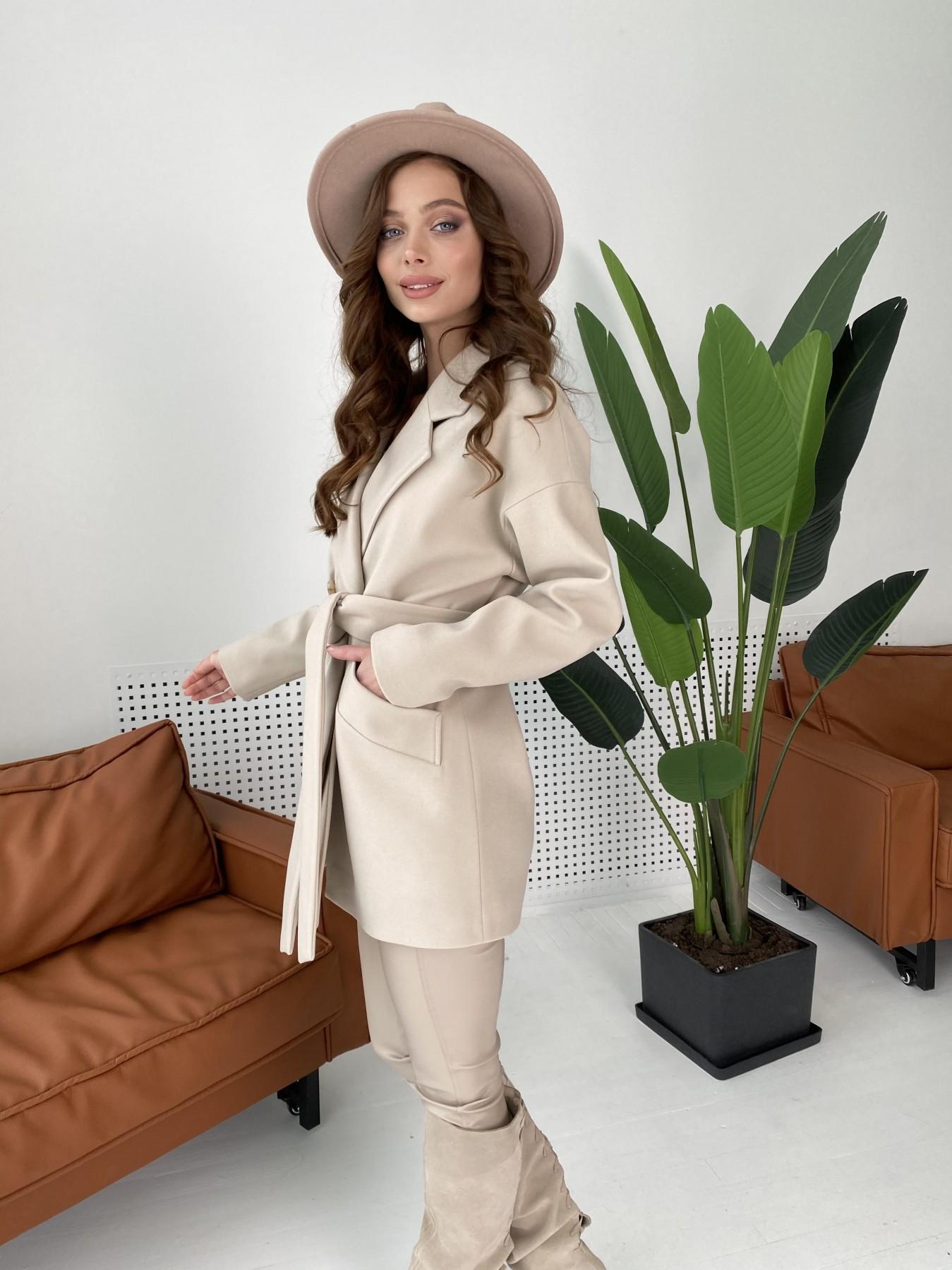 Бонд пальто из кашемира  10571 АРТ. 46992 Цвет: Бежевый Светлый - фото 7, интернет магазин tm-modus.ru