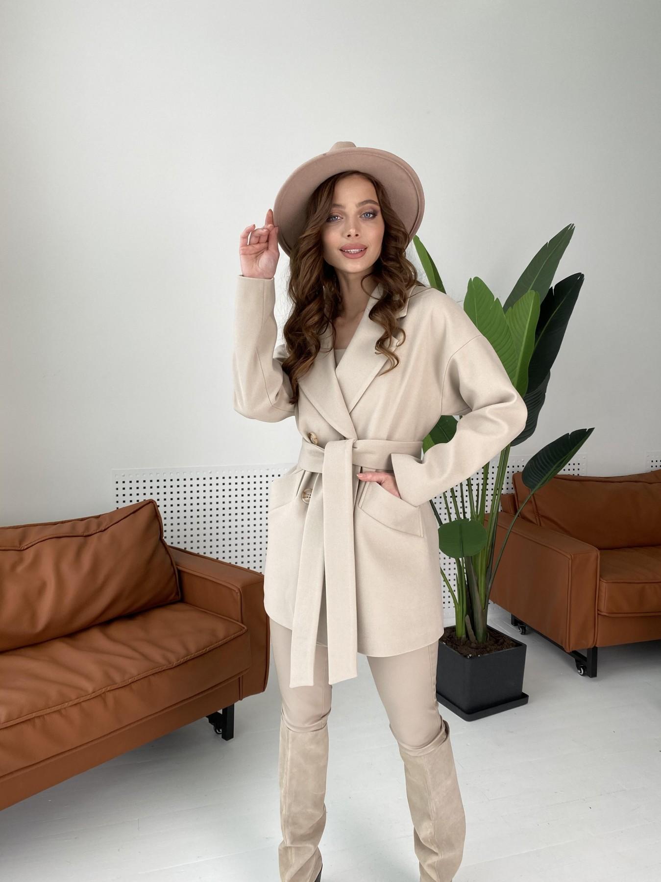 Бонд пальто из кашемира  10571 АРТ. 46992 Цвет: Бежевый Светлый - фото 9, интернет магазин tm-modus.ru