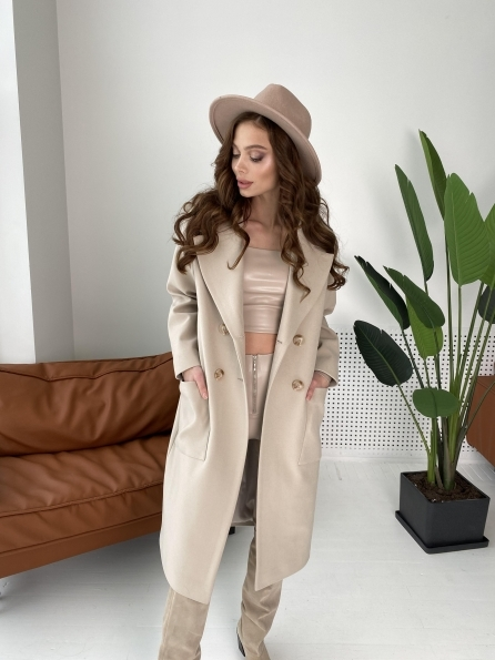 """Купить """"Свайп макси"""" пальто из кашемира  10573 оптом и в розницу"""