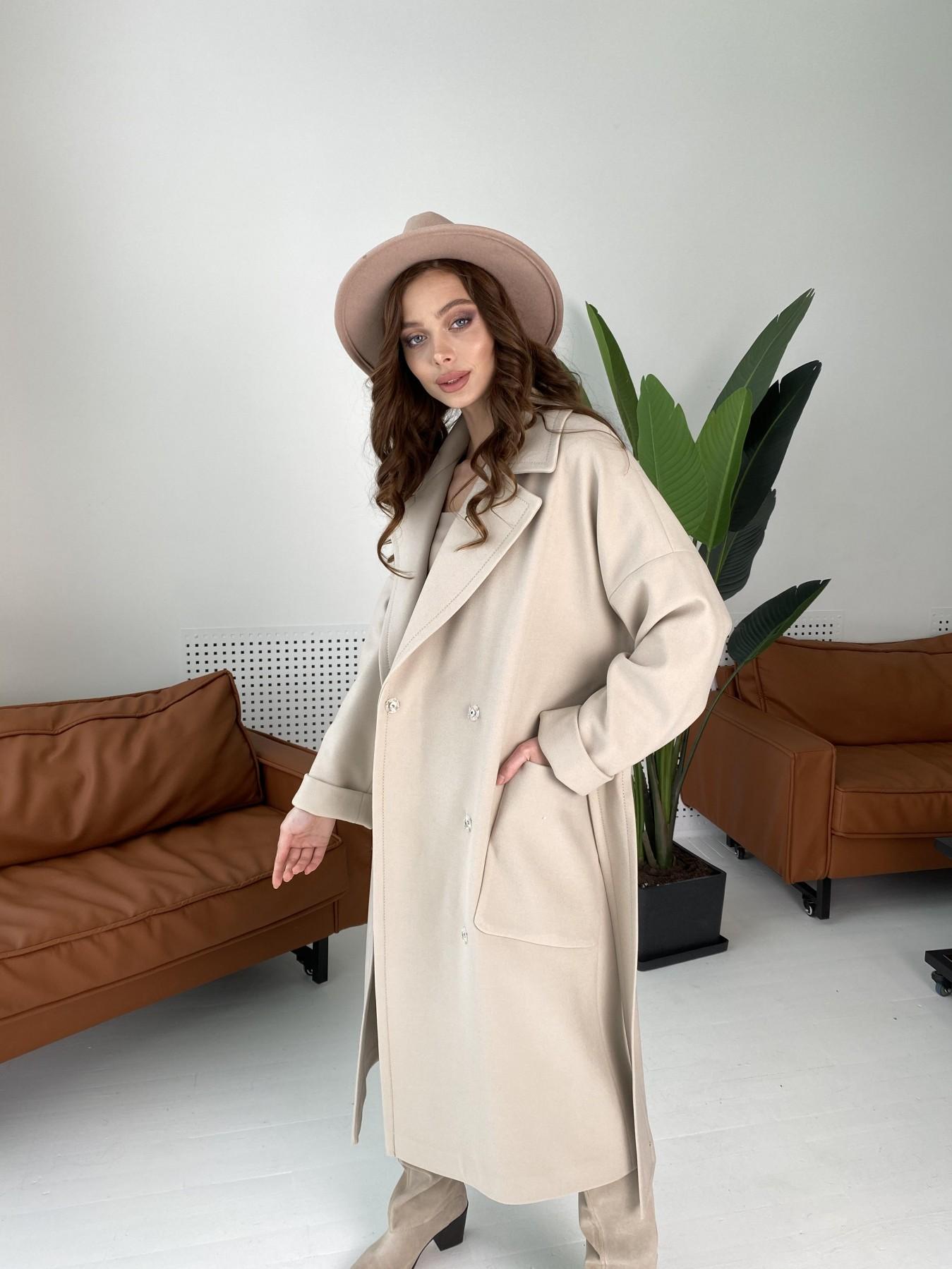 Кейт  пальто из кашемира 10539 АРТ. 46990 Цвет: Бежевый Светлый - фото 1, интернет магазин tm-modus.ru