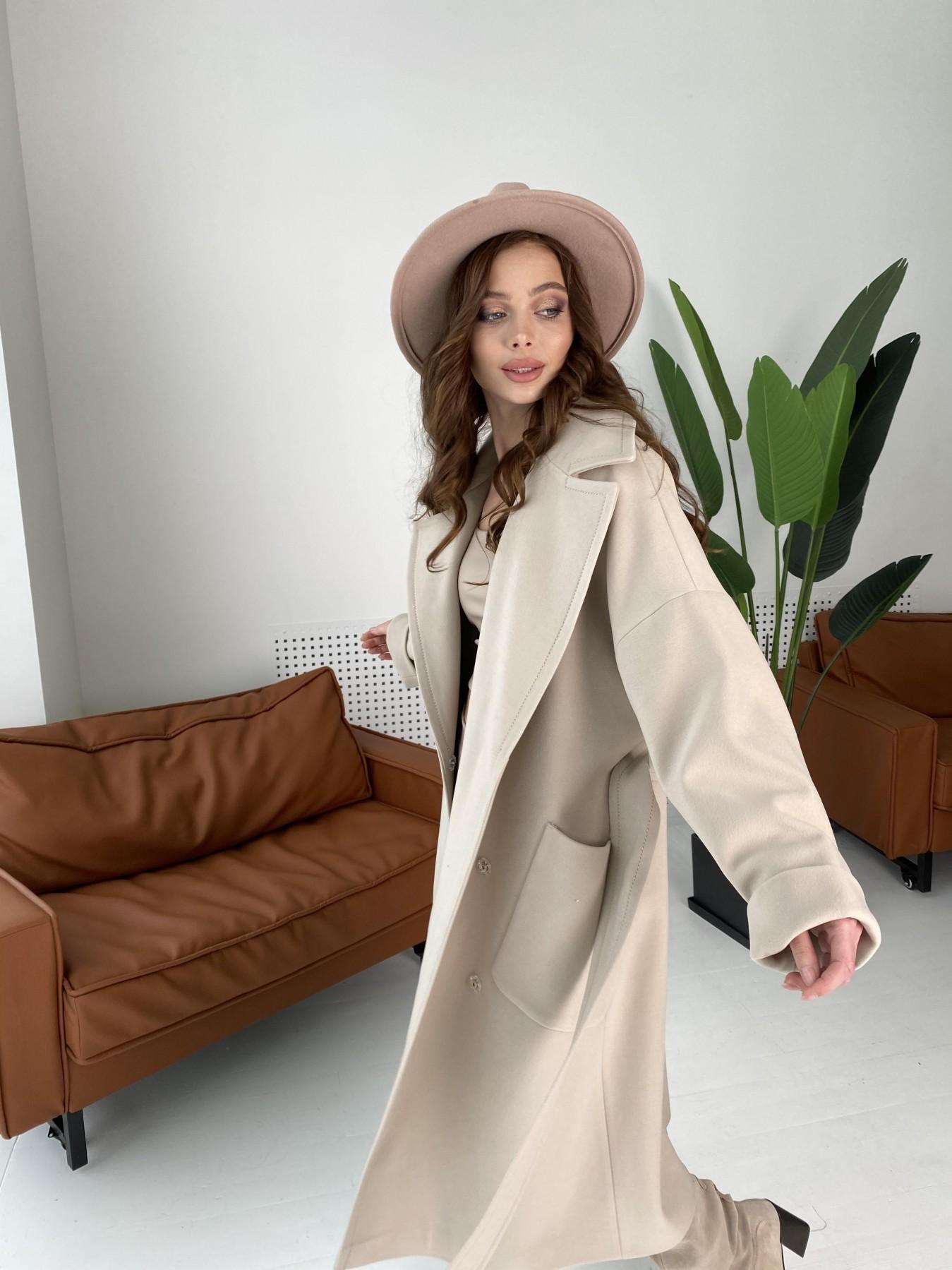 Кейт  пальто из кашемира 10539 АРТ. 46990 Цвет: Бежевый Светлый - фото 2, интернет магазин tm-modus.ru