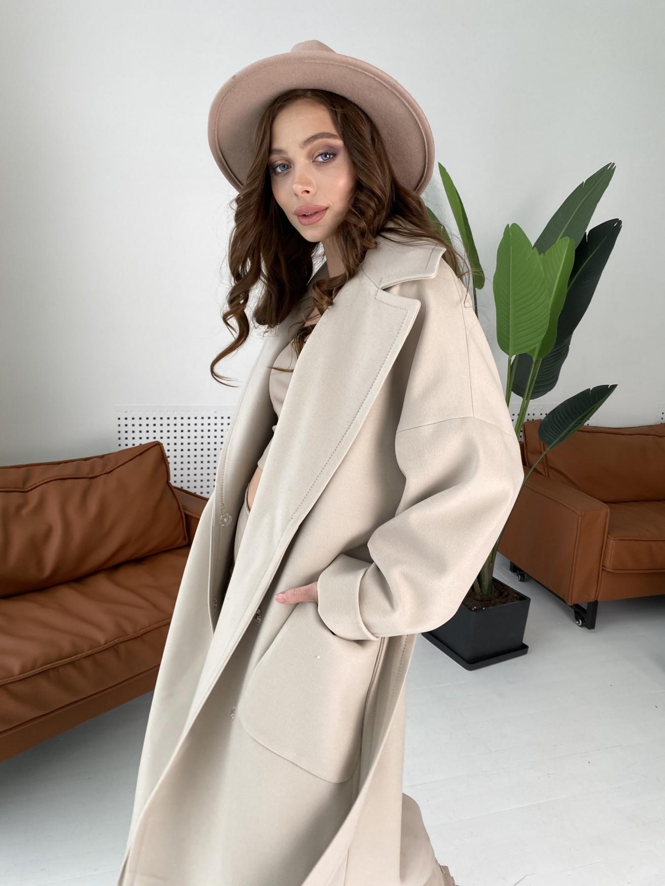 Кейт  пальто из кашемира 10539 АРТ. 46990 Цвет: Бежевый Светлый - фото 3, интернет магазин tm-modus.ru