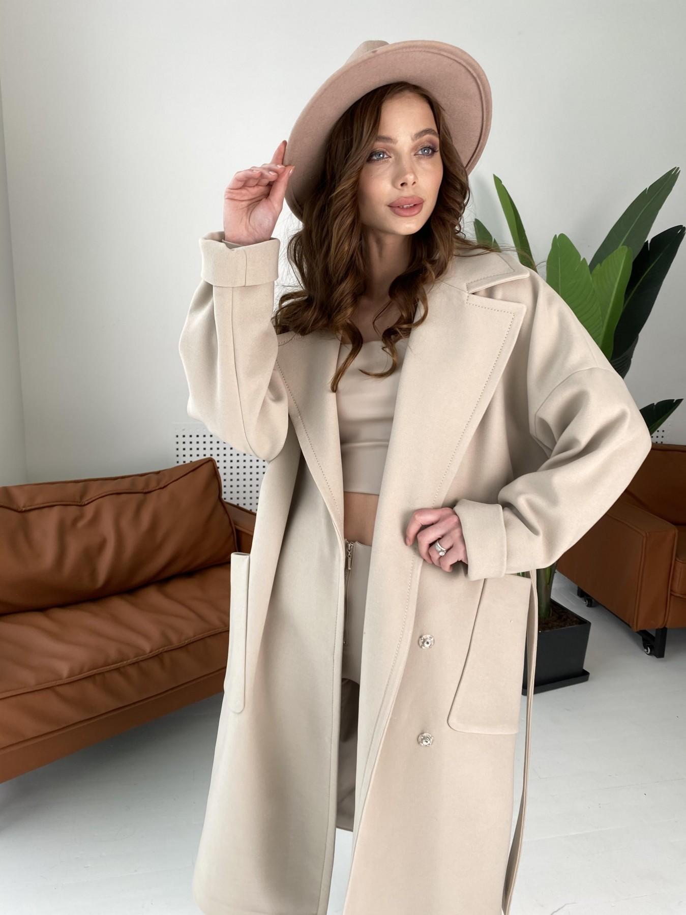 Кейт  пальто из кашемира 10539 АРТ. 46990 Цвет: Бежевый Светлый - фото 4, интернет магазин tm-modus.ru