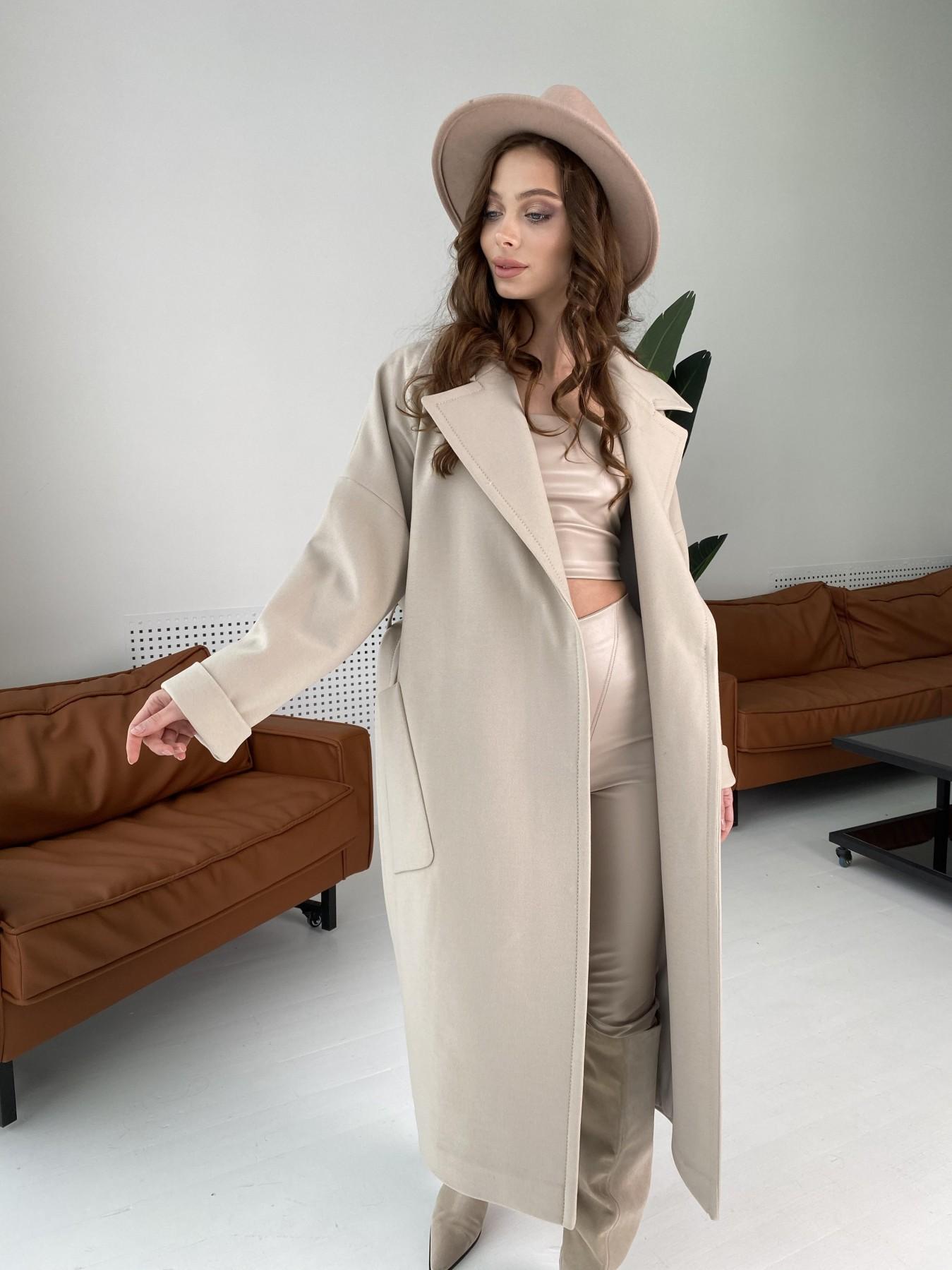 Кейт  пальто из кашемира 10539 АРТ. 46990 Цвет: Бежевый Светлый - фото 5, интернет магазин tm-modus.ru