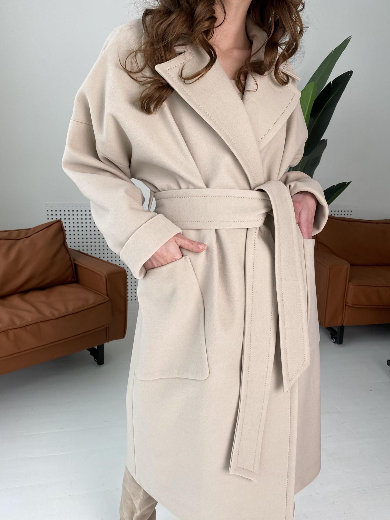 Кейт  пальто из кашемира 10539 АРТ. 46990 Цвет: Бежевый Светлый - фото 6, интернет магазин tm-modus.ru
