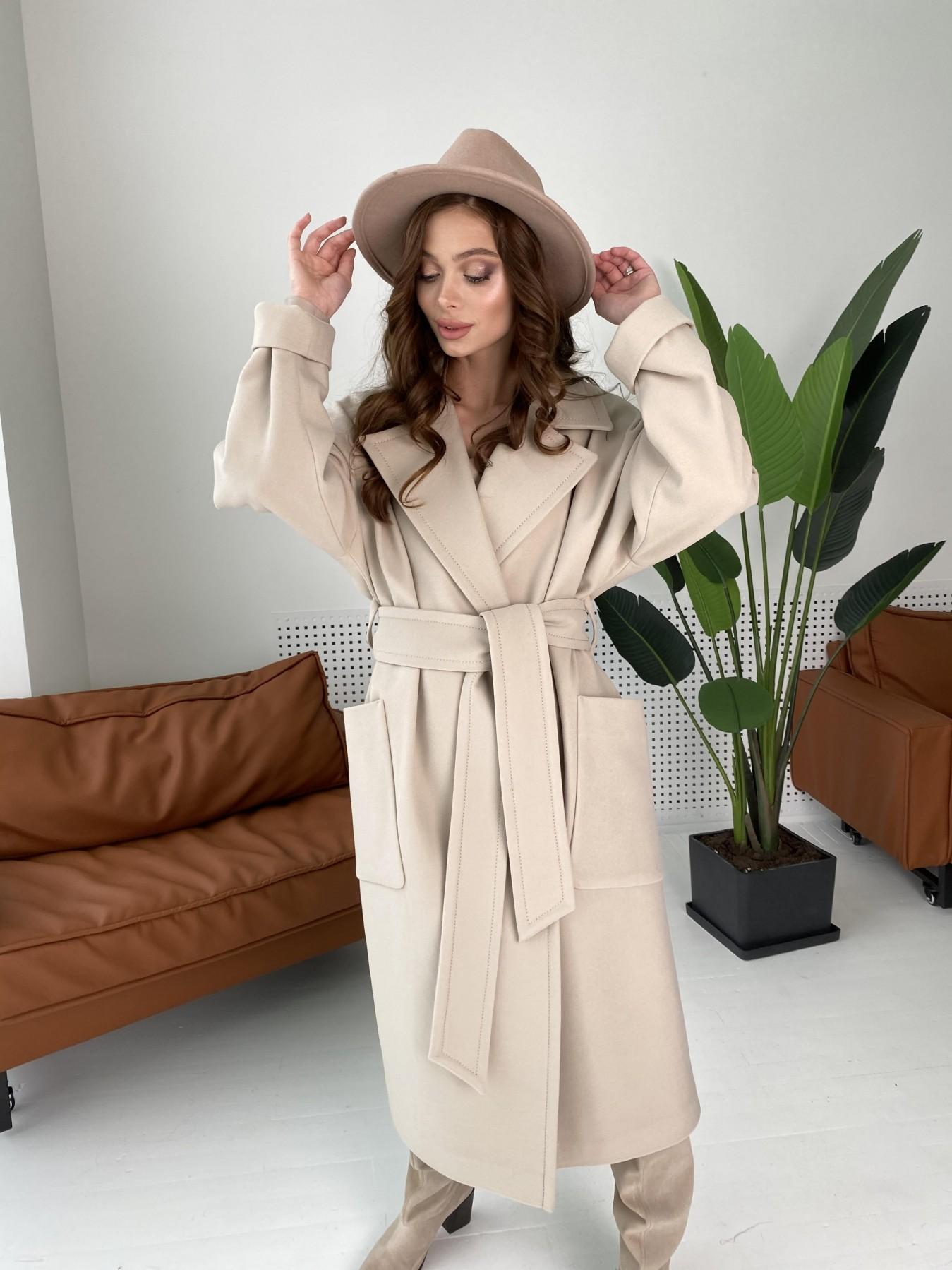 Кейт  пальто из кашемира 10539 АРТ. 46990 Цвет: Бежевый Светлый - фото 7, интернет магазин tm-modus.ru