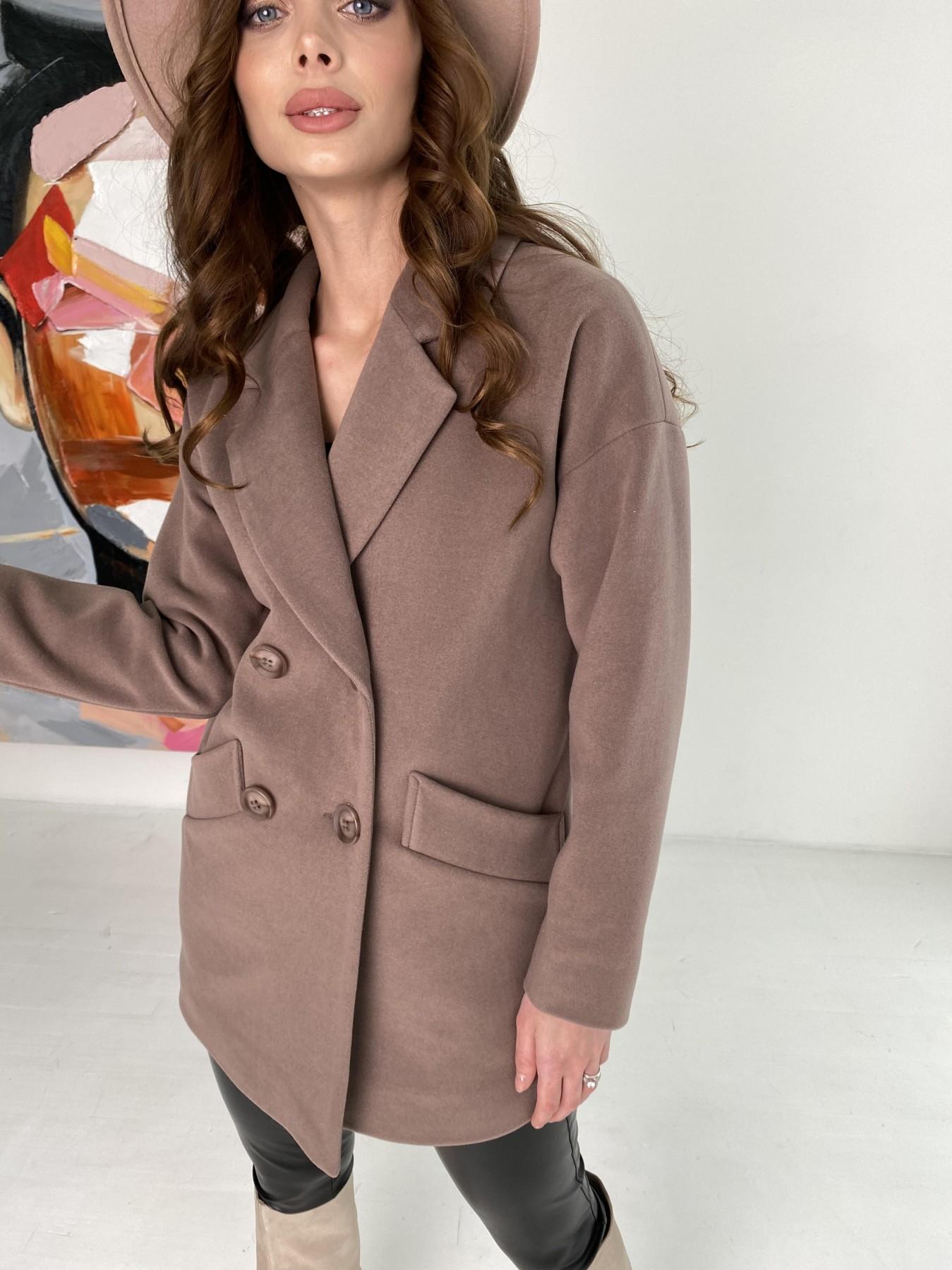 Бонд пальто кашемировое на трикотаже 10642 АРТ. 47009 Цвет: Кофе - фото 6, интернет магазин tm-modus.ru
