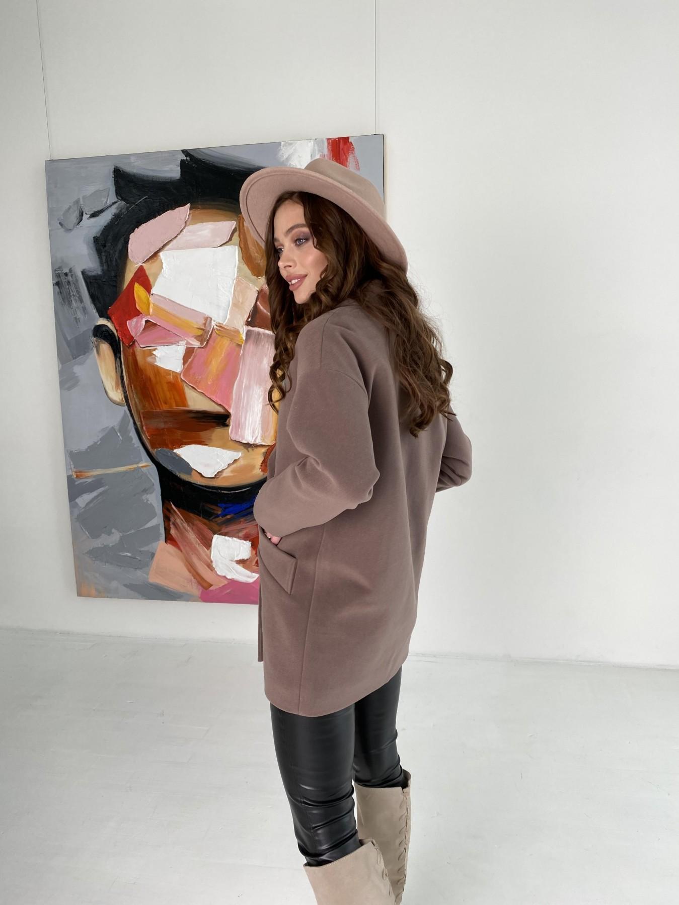 Бонд пальто кашемировое на трикотаже 10642 АРТ. 47009 Цвет: Кофе - фото 7, интернет магазин tm-modus.ru