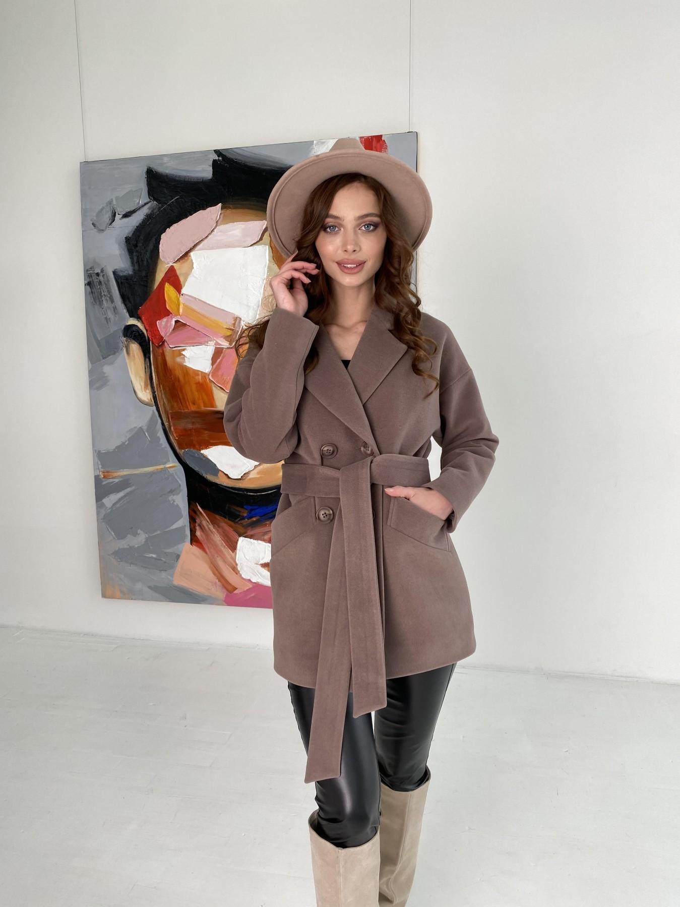 Бонд пальто кашемировое на трикотаже 10642 АРТ. 47009 Цвет: Кофе - фото 8, интернет магазин tm-modus.ru