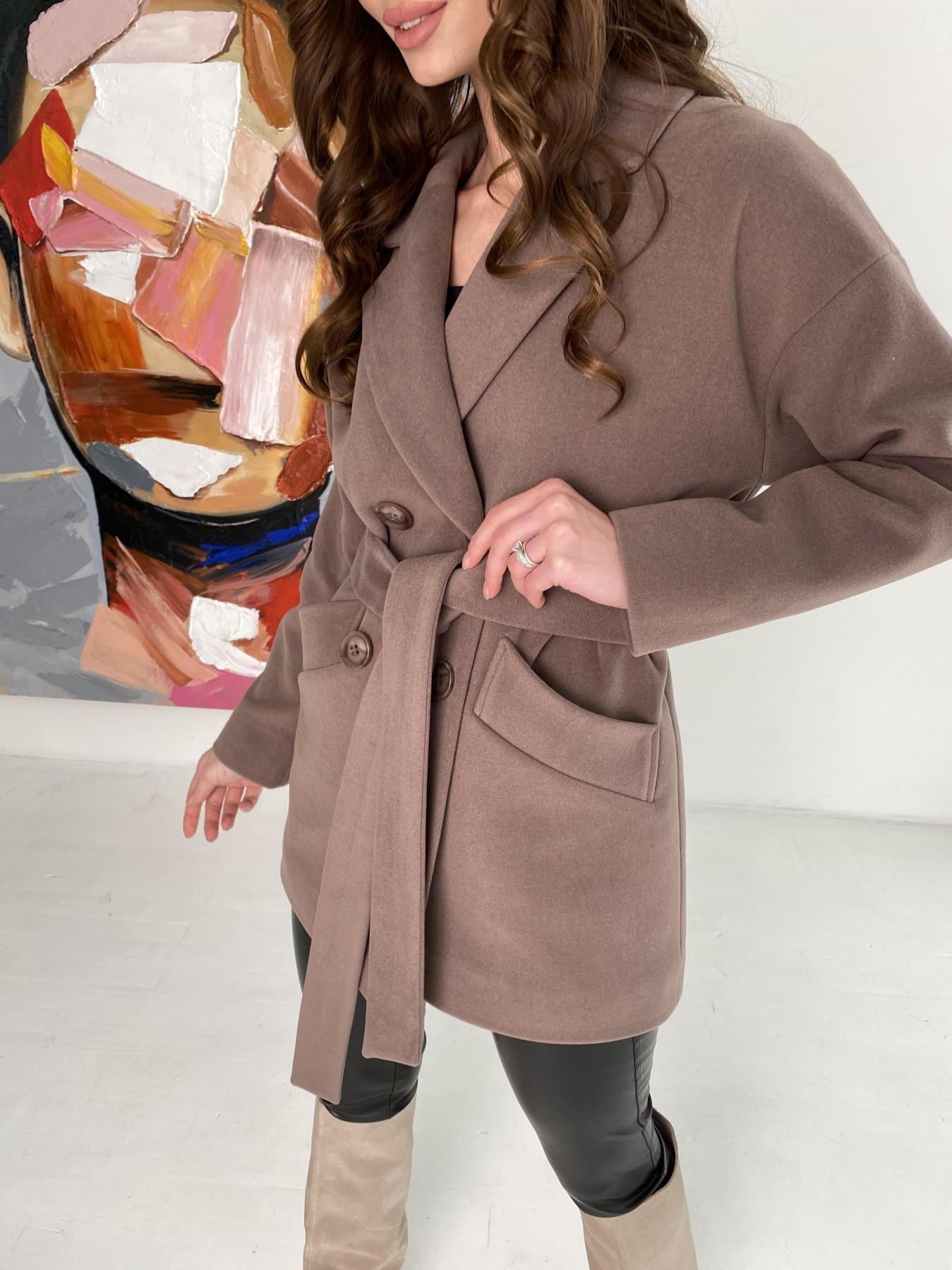 Бонд пальто кашемировое на трикотаже 10642 АРТ. 47009 Цвет: Кофе - фото 9, интернет магазин tm-modus.ru