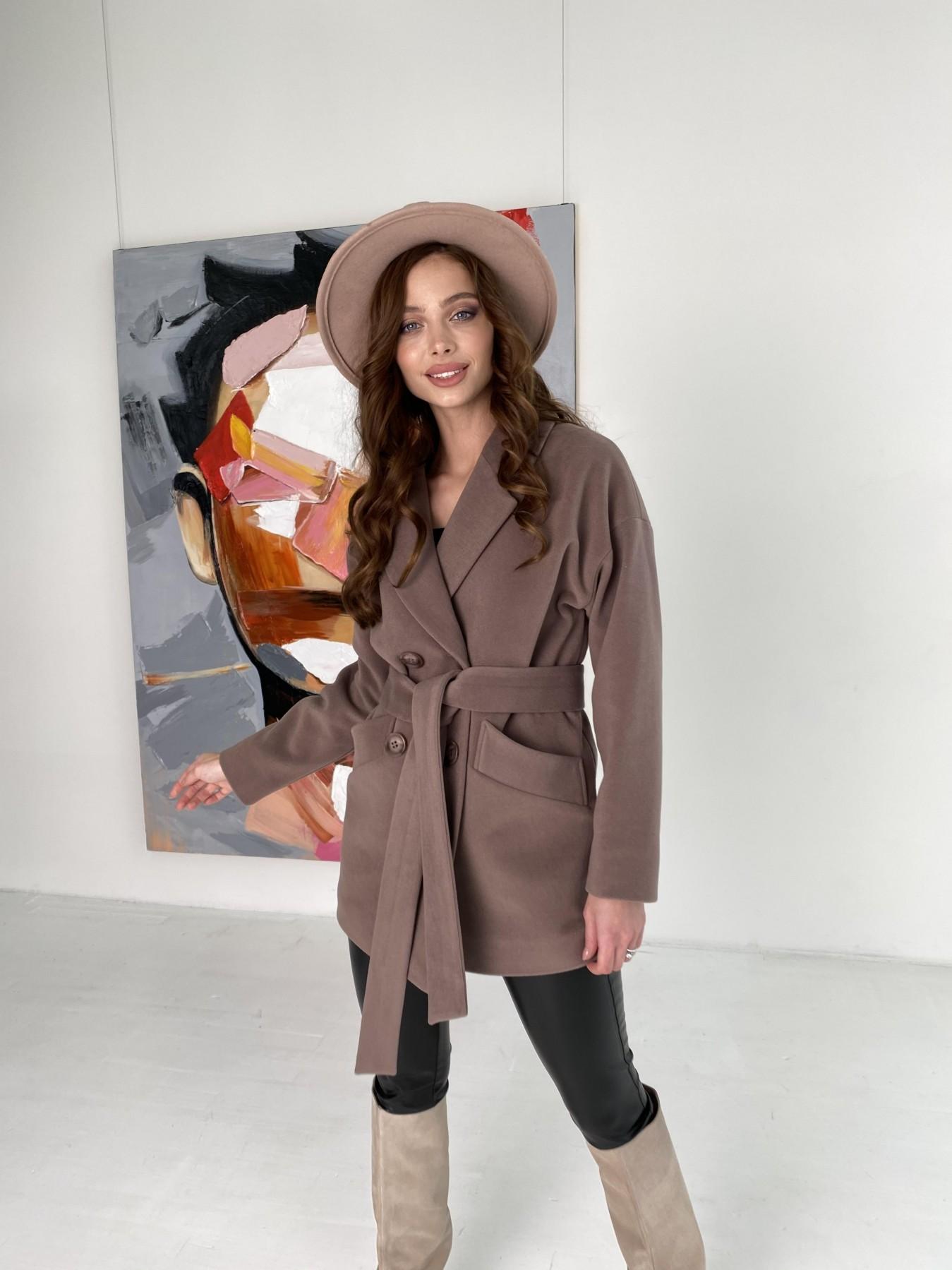Бонд пальто кашемировое на трикотаже 10642 АРТ. 47009 Цвет: Кофе - фото 10, интернет магазин tm-modus.ru