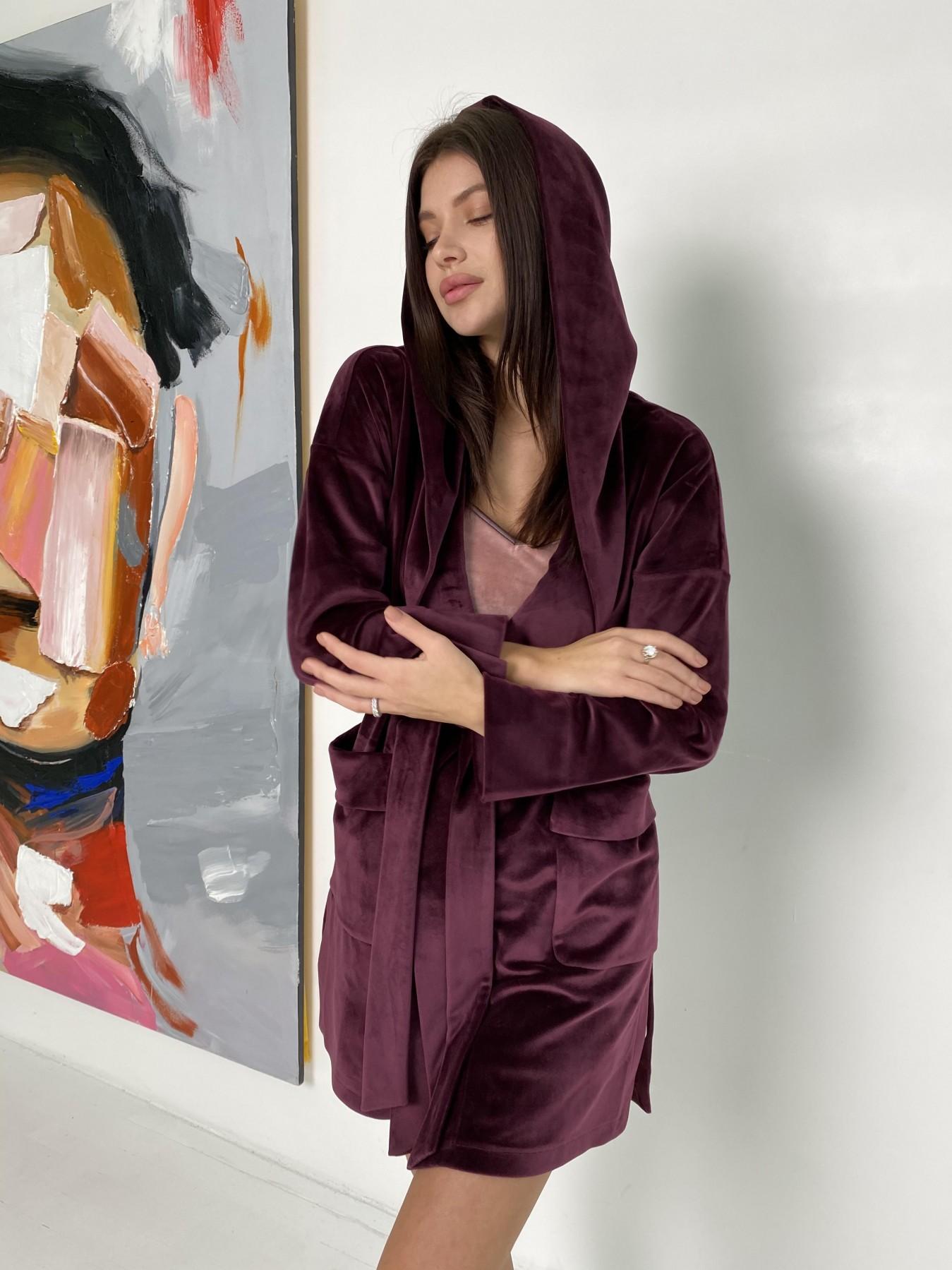 Фабьен халат из  велюровой ткани  10483