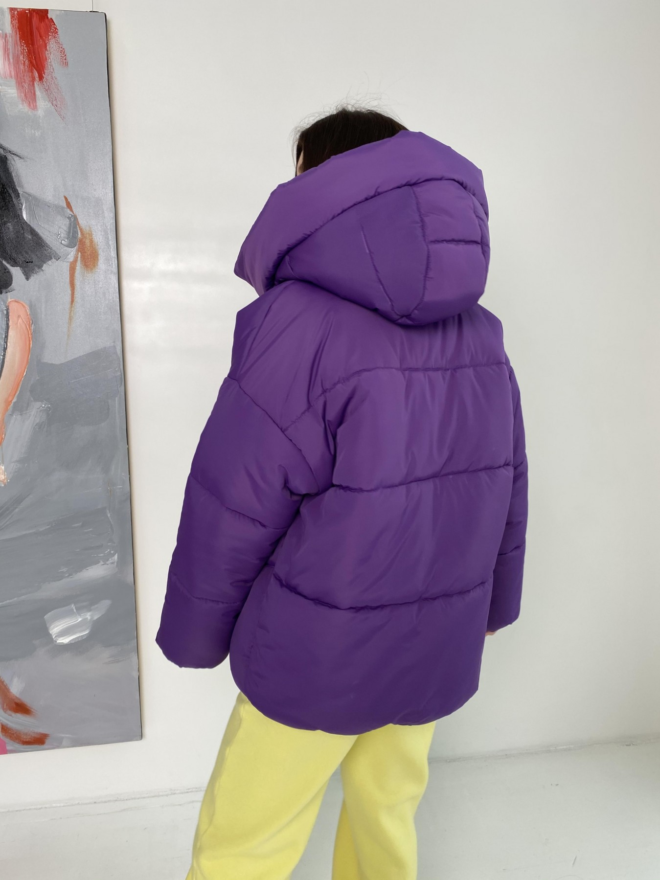 Овертайм  теплый пуховик из плащевой ткани 10243 АРТ. 47045 Цвет: Сиреневый 861 - фото 6, интернет магазин tm-modus.ru