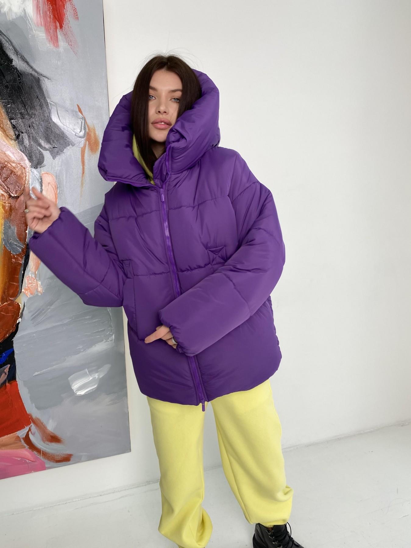 куртка пуховик женская  Овертайм  теплый пуховик из плащевой ткани 10243