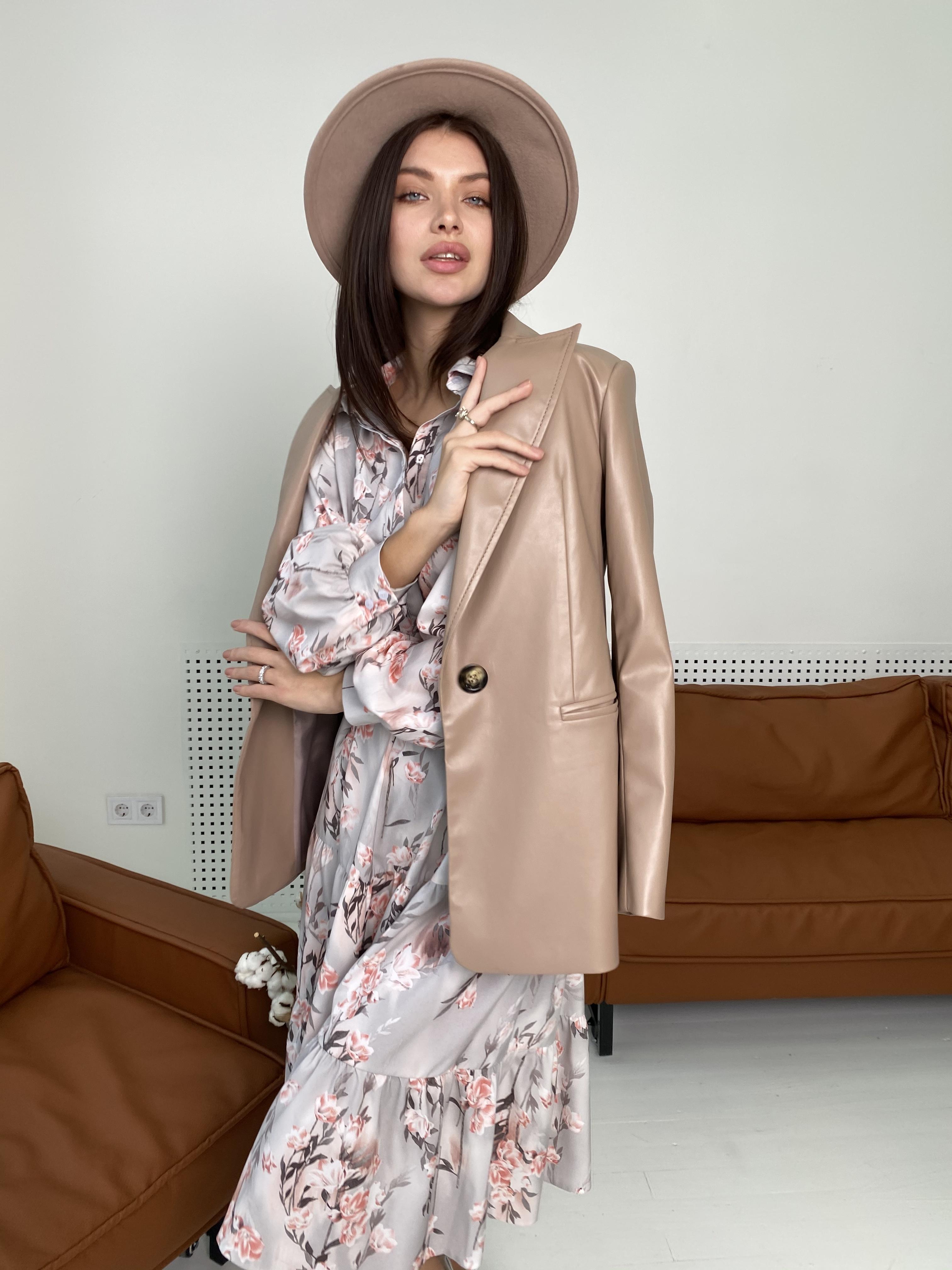 Лилия платье в цветочный принт 9712 АРТ. 46015 Цвет: Цветы кр/цепи Молоко/пудра - фото 8, интернет магазин tm-modus.ru