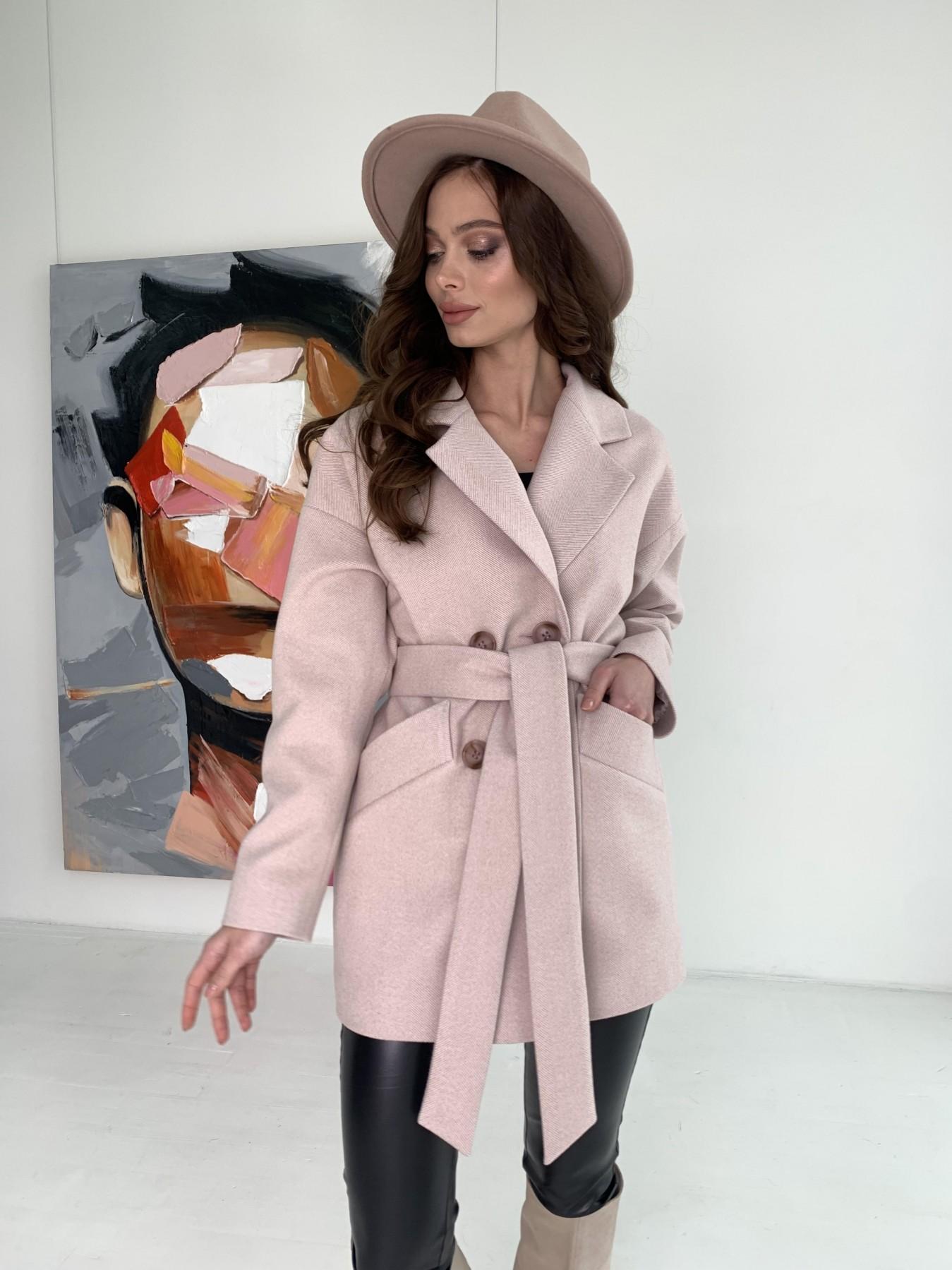 Пальто демисезонное женское Украина Modus Бонд пальто из пальтовой ткани в мелкую елочку 10640