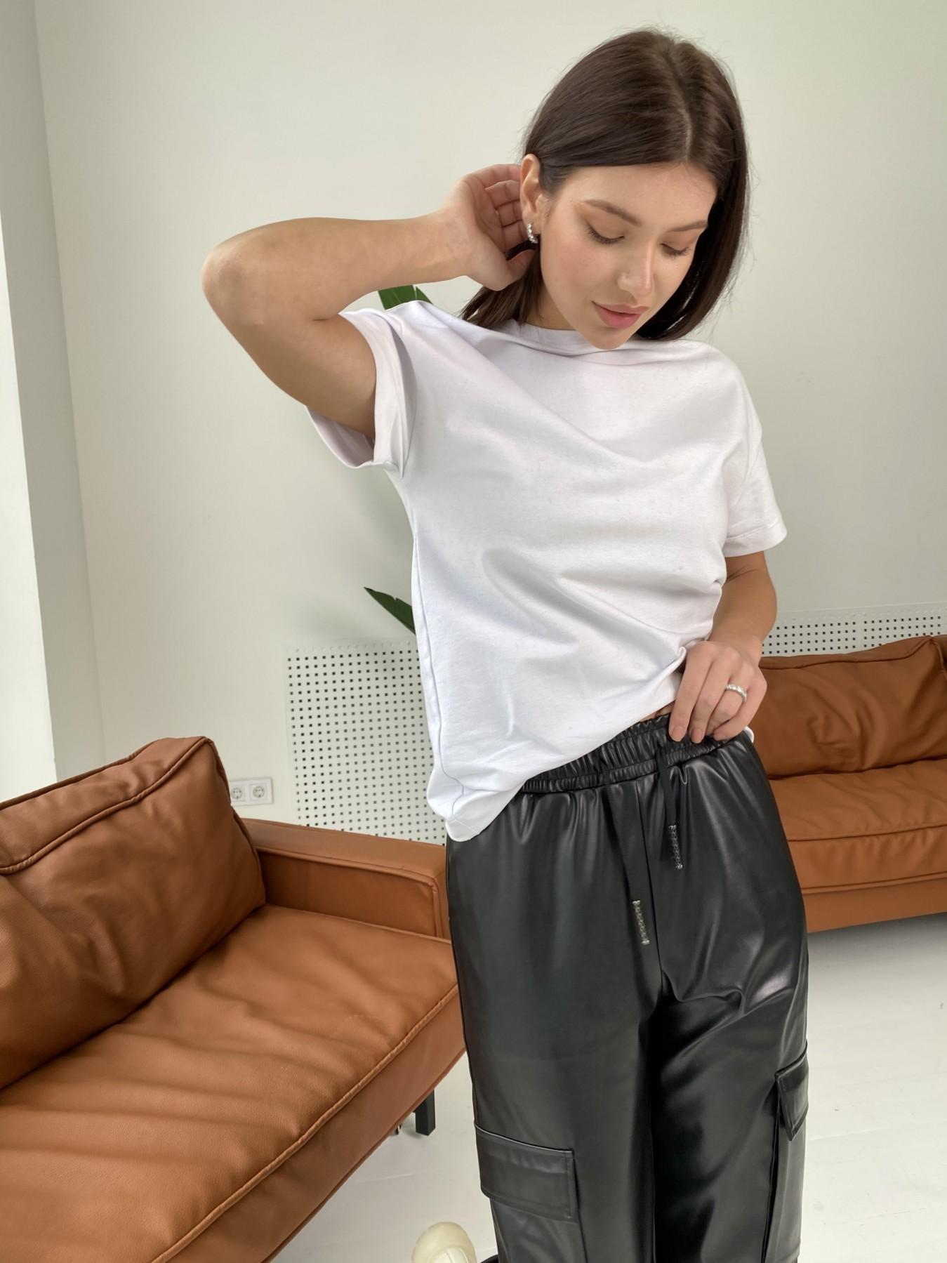 Кьюи брюки из экокожи 10673 АРТ. 47074 Цвет: Черный - фото 8, интернет магазин tm-modus.ru