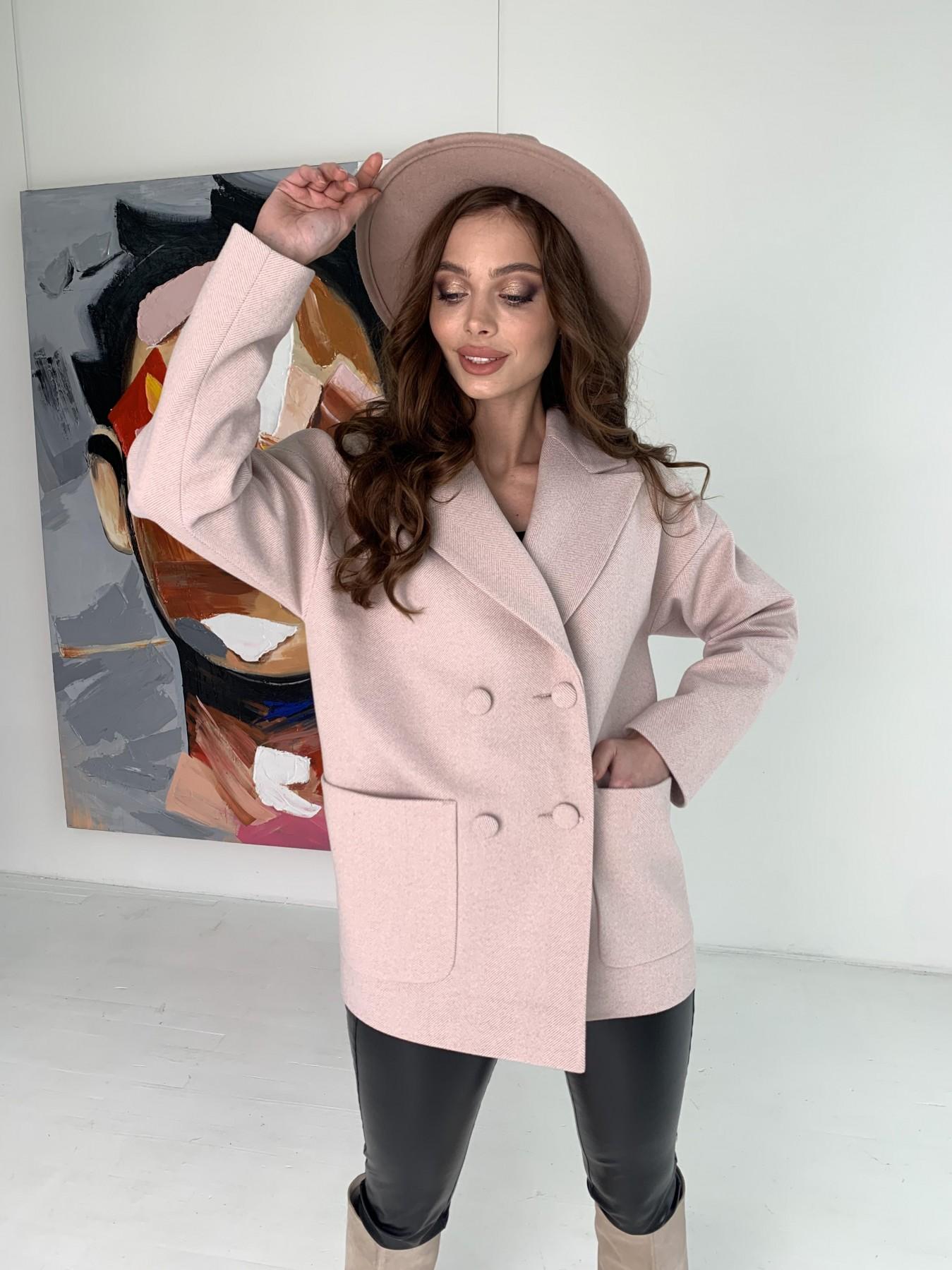 Демисезонное пальто купить Мансера пальто в мелкую елочку из пальтовой ткани 10627
