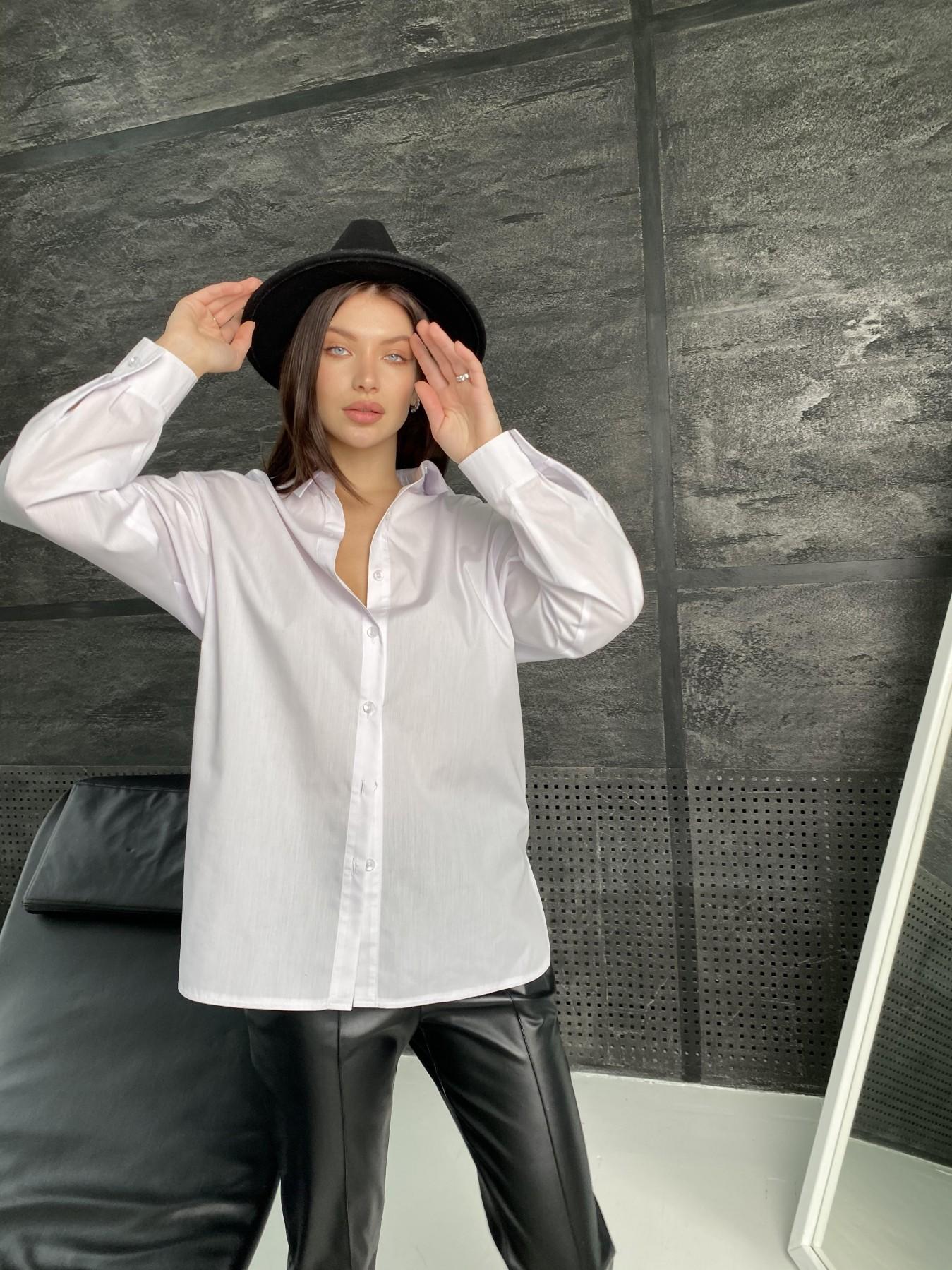 Найс рубашка из хлопковой ткани 10808 АРТ. 47287 Цвет: Белый - фото 2, интернет магазин tm-modus.ru