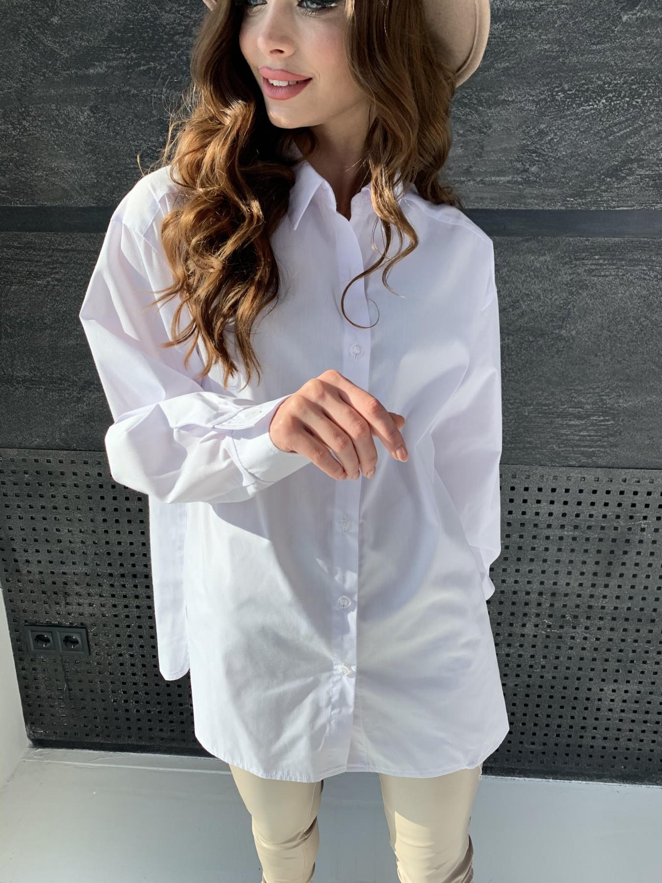 Найс рубашка из хлопковой ткани 10808 АРТ. 47287 Цвет: Белый - фото 5, интернет магазин tm-modus.ru