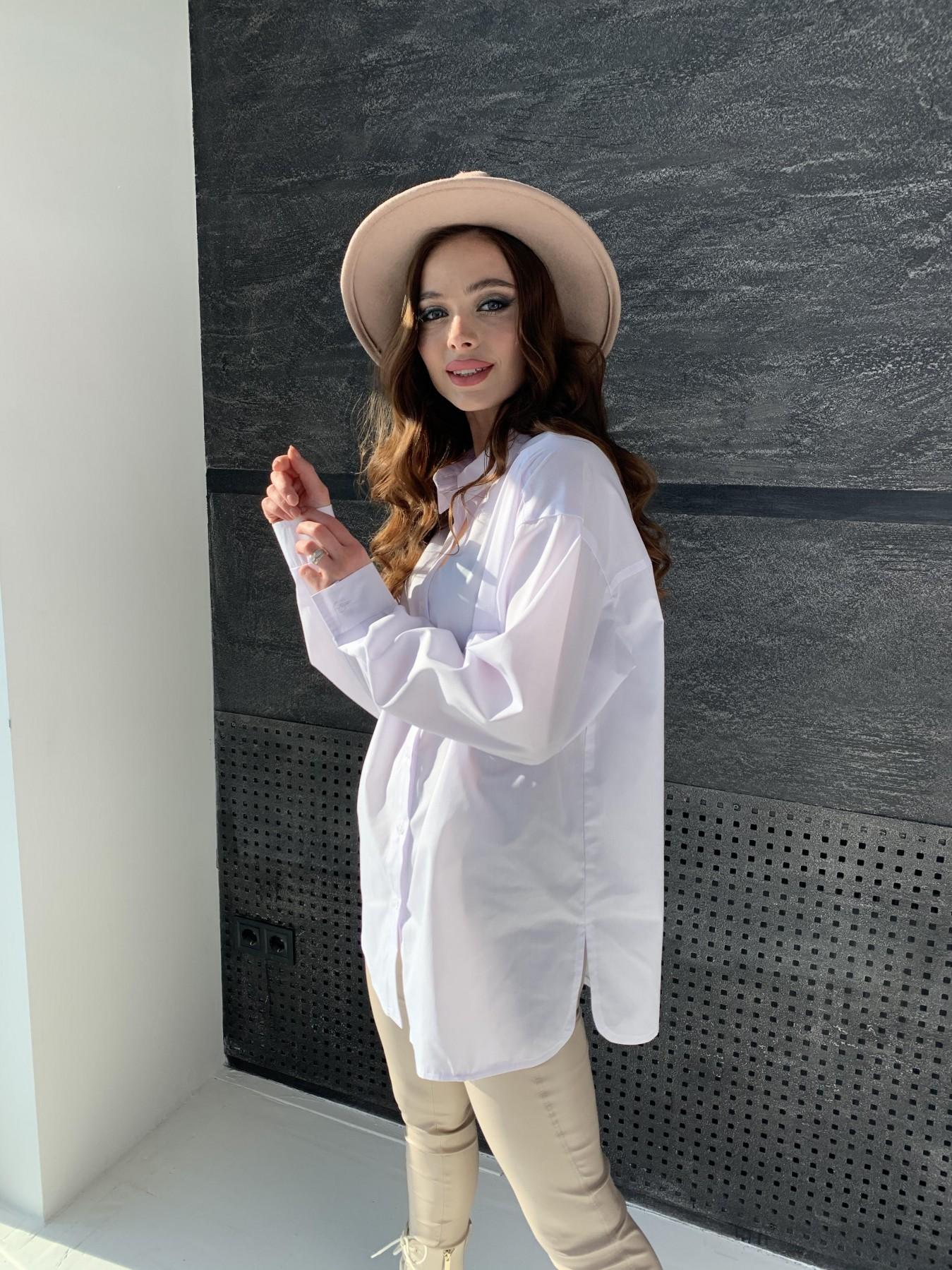Найс рубашка из хлопковой ткани 10808 АРТ. 47287 Цвет: Белый - фото 6, интернет магазин tm-modus.ru