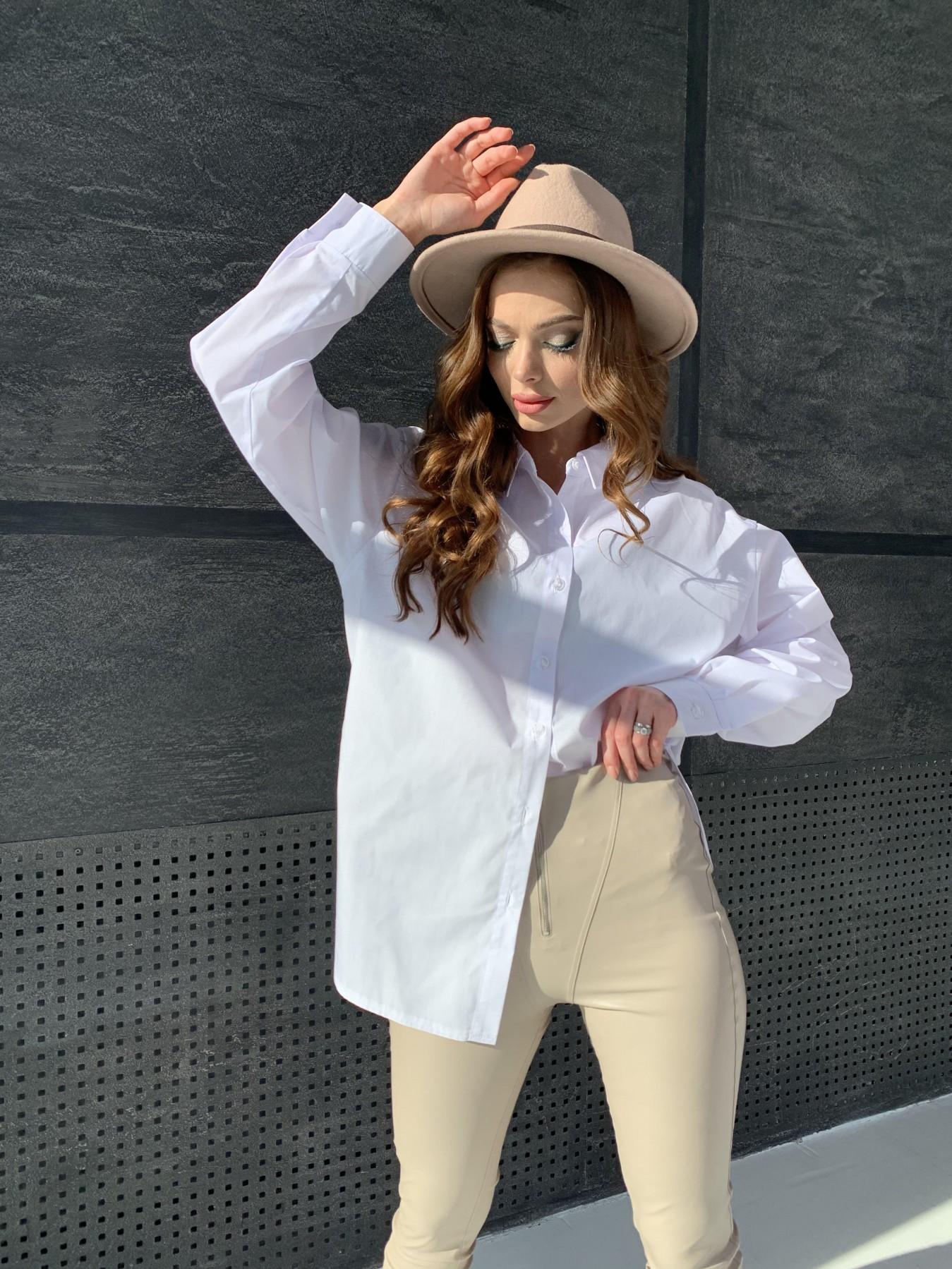 Найс рубашка из хлопковой ткани 10808 АРТ. 47287 Цвет: Белый - фото 7, интернет магазин tm-modus.ru