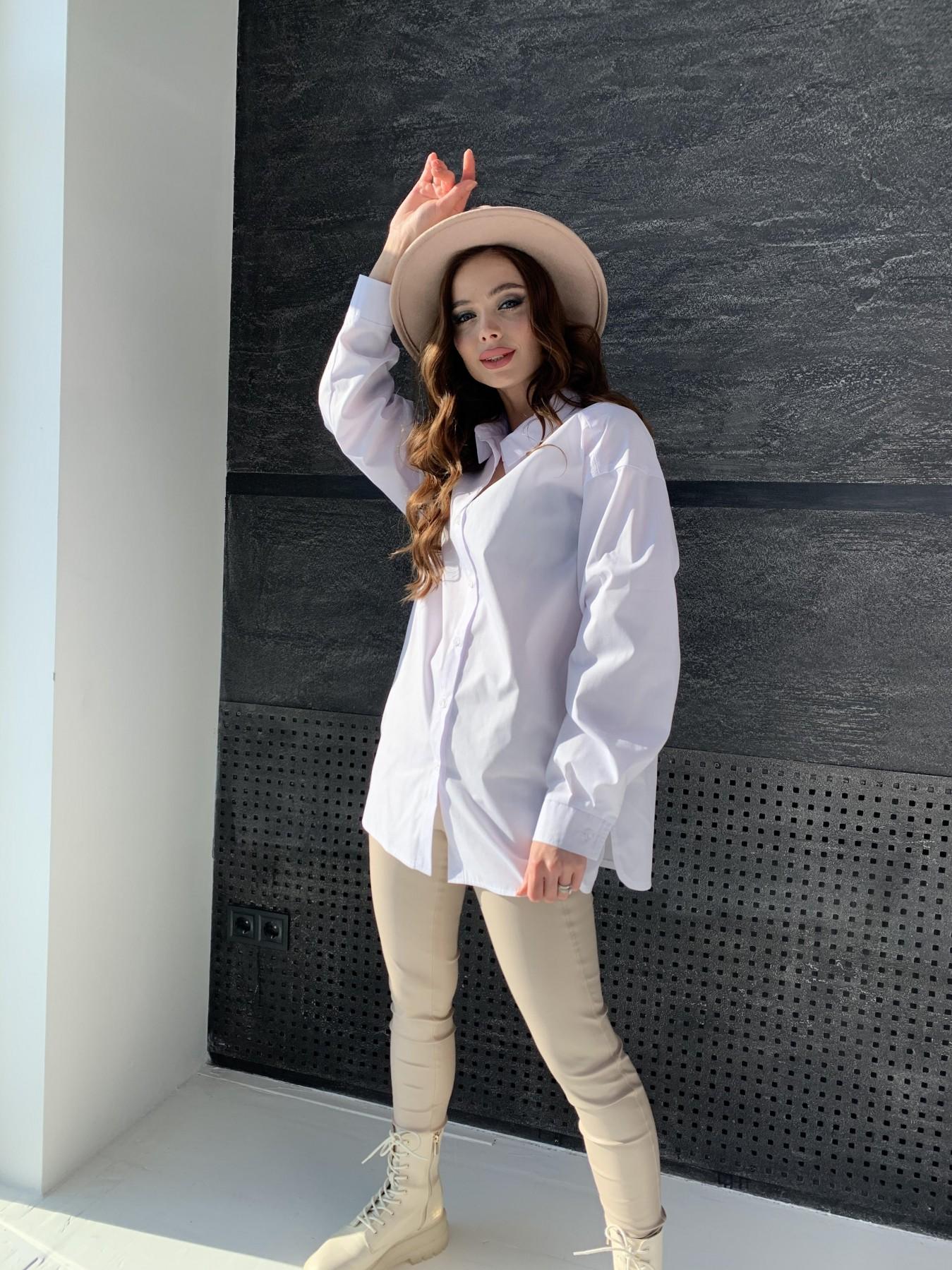 Найс рубашка из хлопковой ткани 10808 АРТ. 47287 Цвет: Белый - фото 8, интернет магазин tm-modus.ru